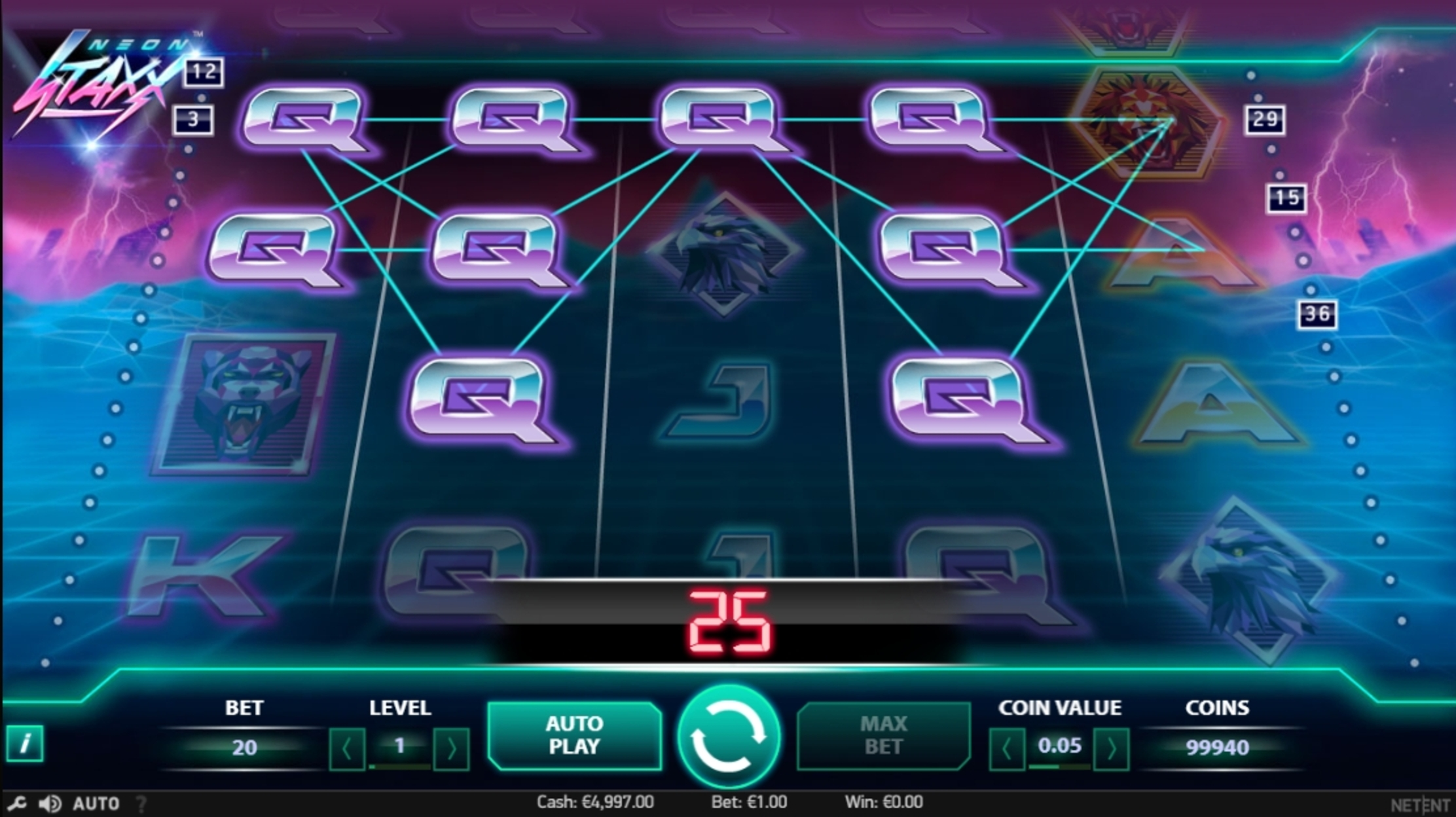 Win Money in Neon Staxx Free Slot Game by NetEnt