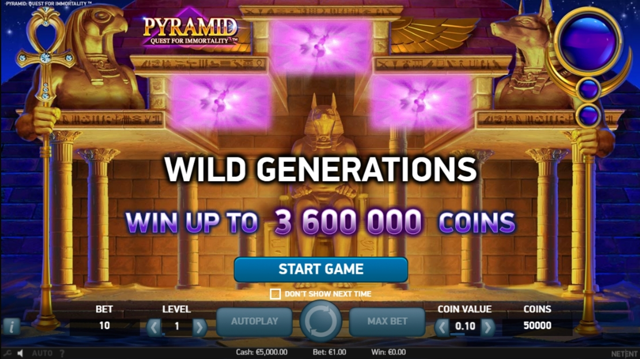 Play Pyramid: Quest for Immortality Free Casino Slot Game by NetEnt