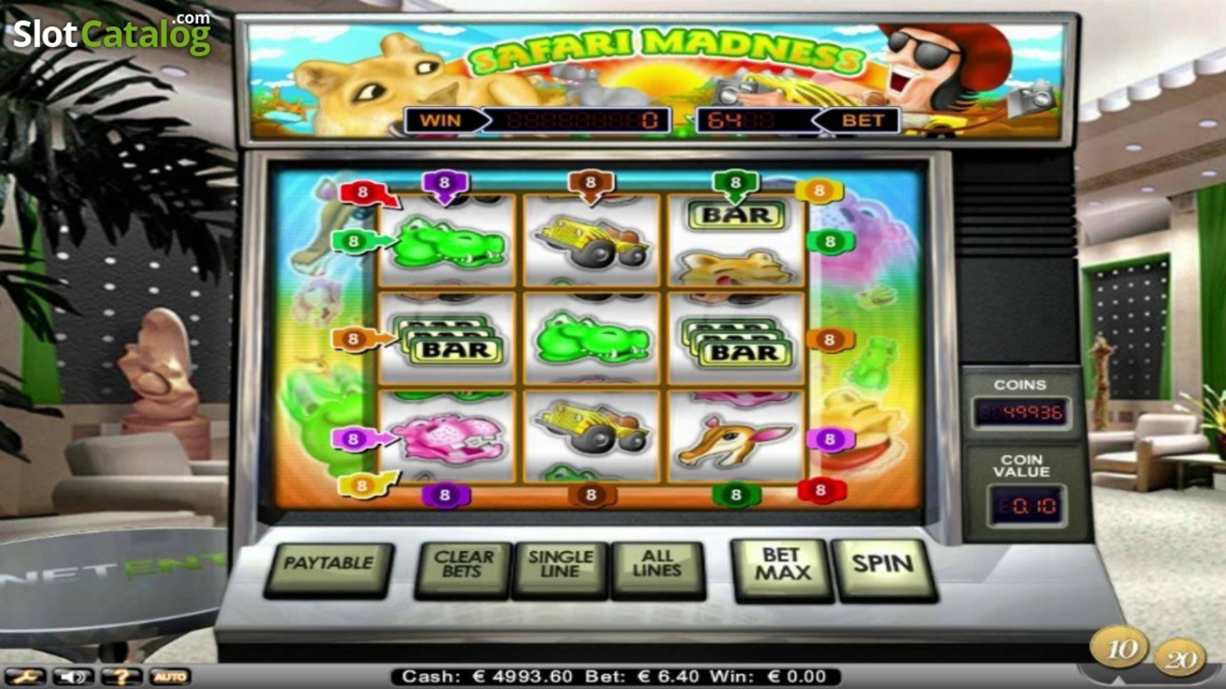 The Safari Madness Online Slot Demo Game by NetEnt