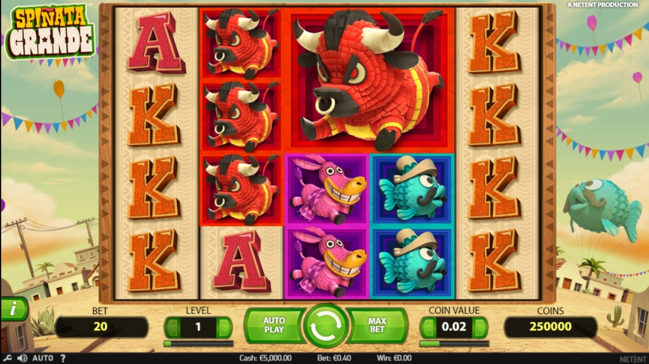 Reels in Spinata Grande Slot Game by NetEnt