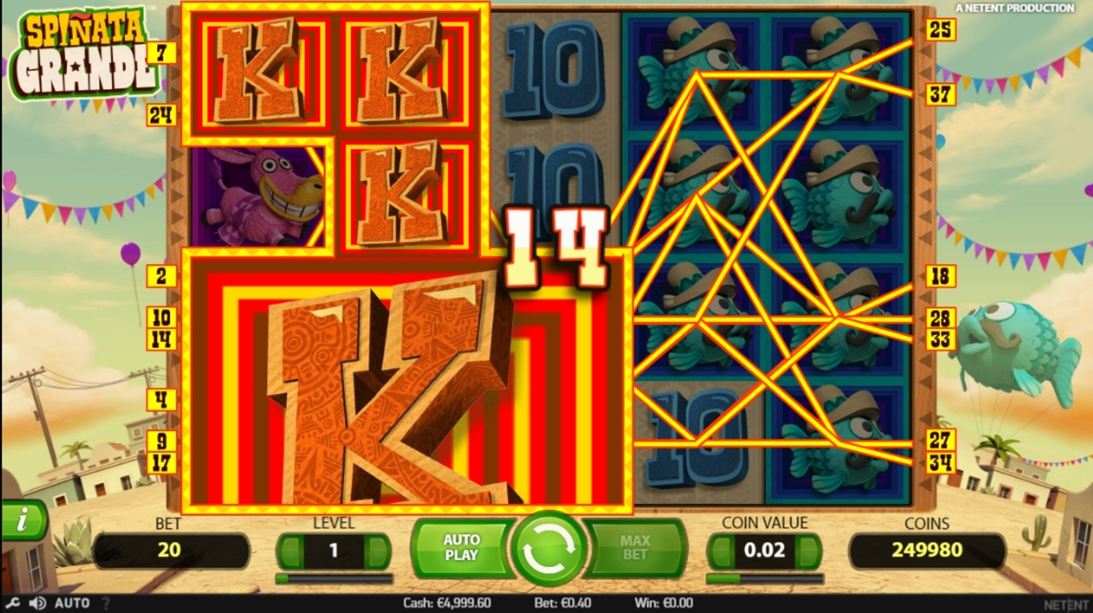Win Money in Spinata Grande Free Slot Game by NetEnt