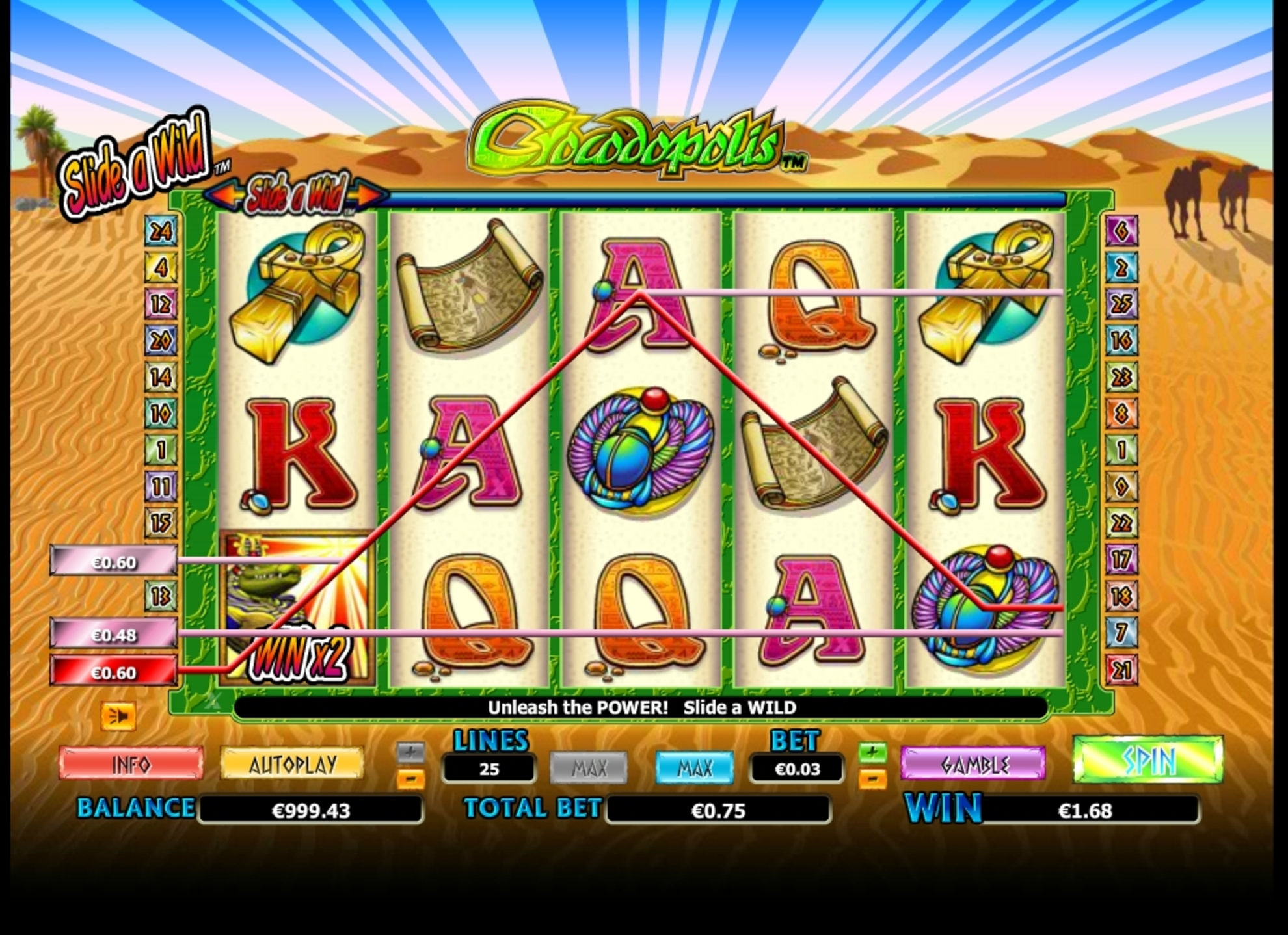 Win Money in Crocodopolis Free Slot Game by NextGen