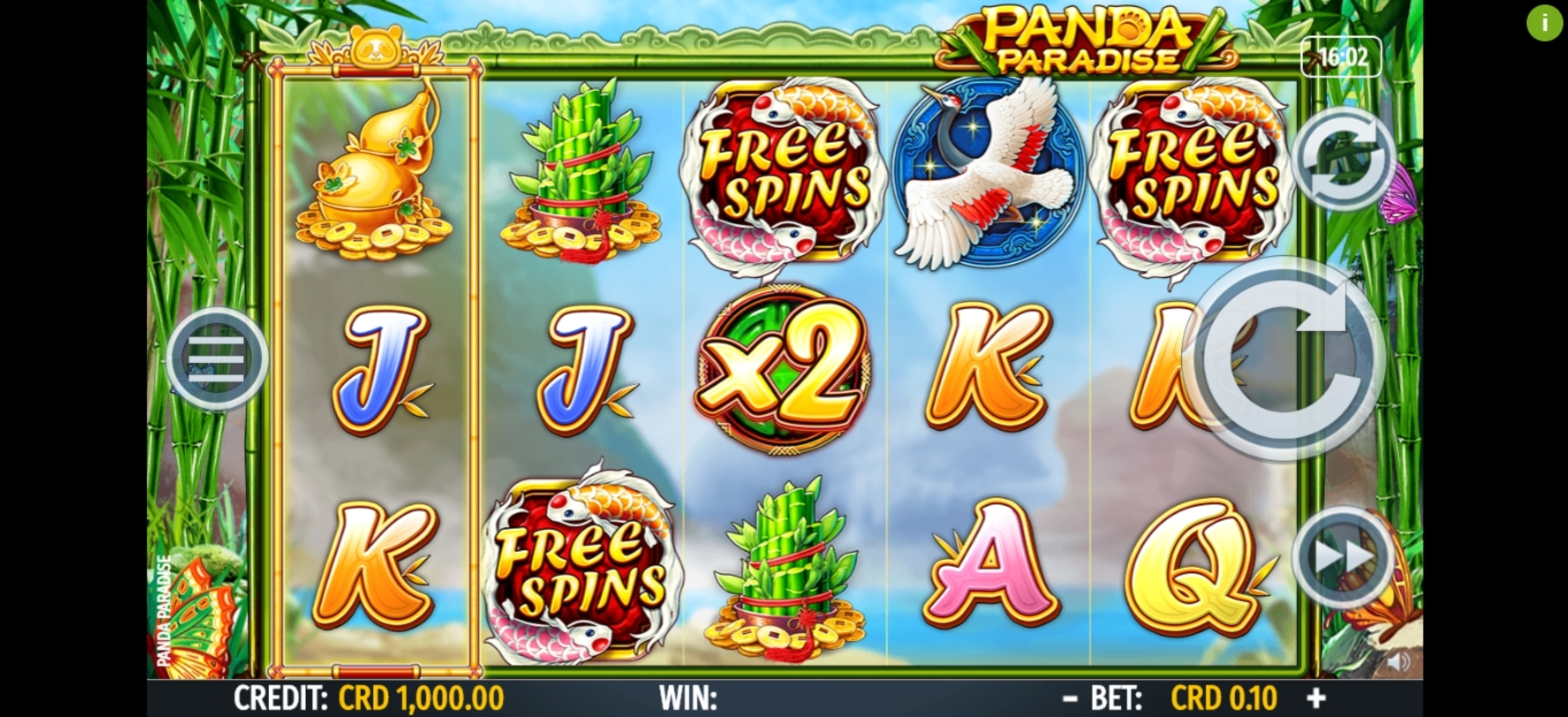 Reels in Panda Paradise Slot Game by Octavian Gaming
