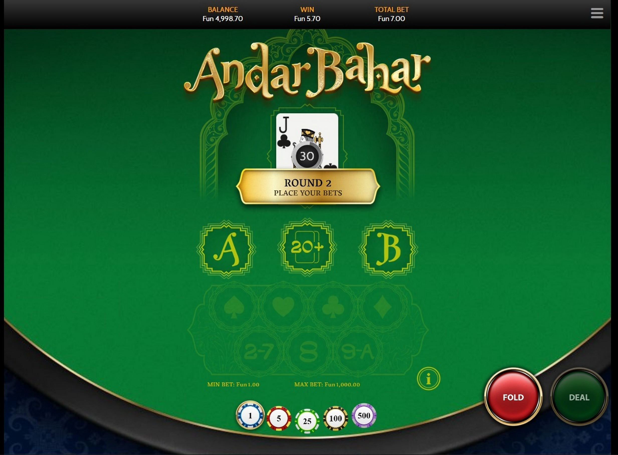 Win Money in Andar Bahar (OneTouch) Free Slot Game by OneTouch Games
