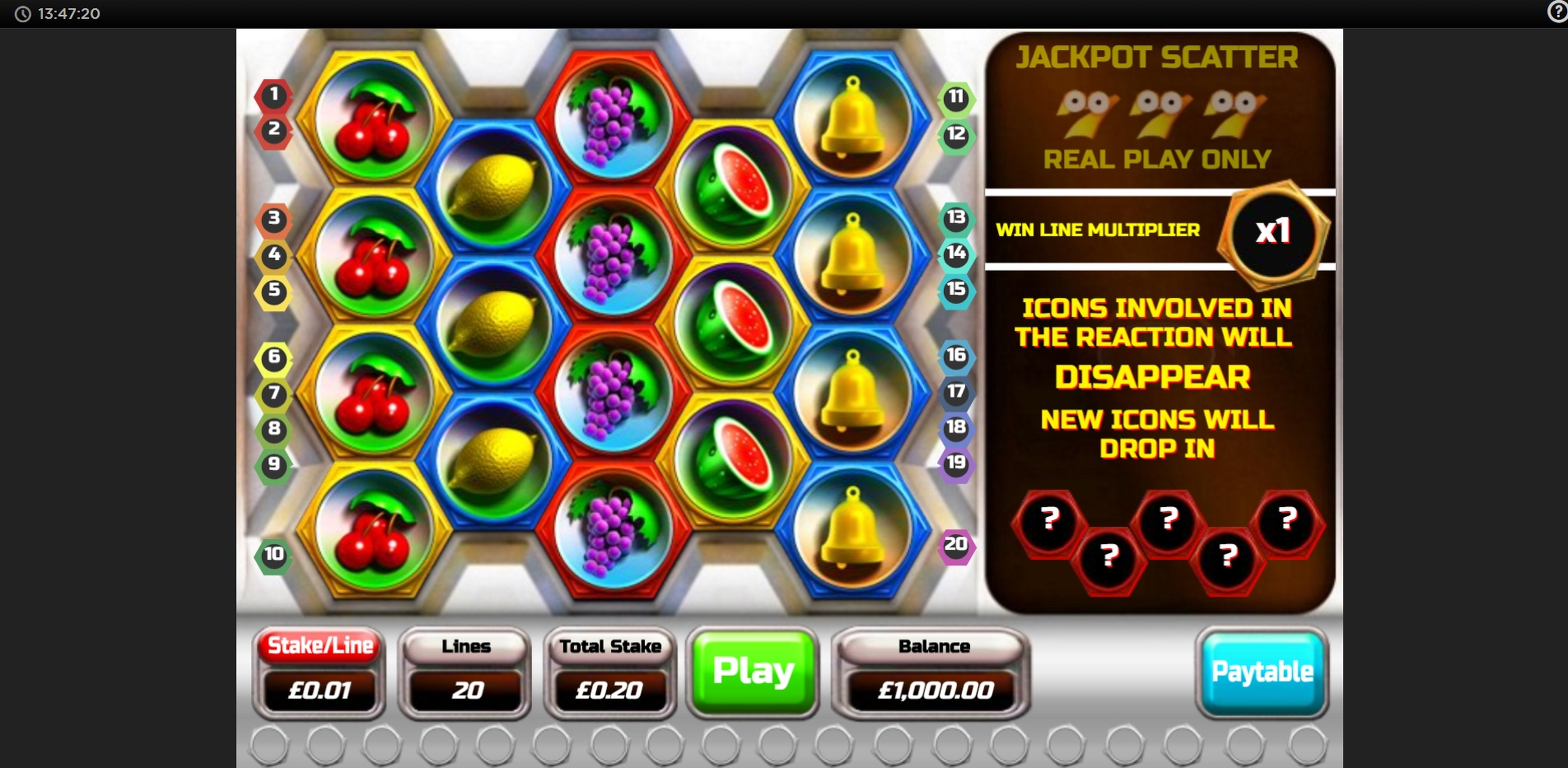 Reels in Cashdrop Slot Game by OpenBet