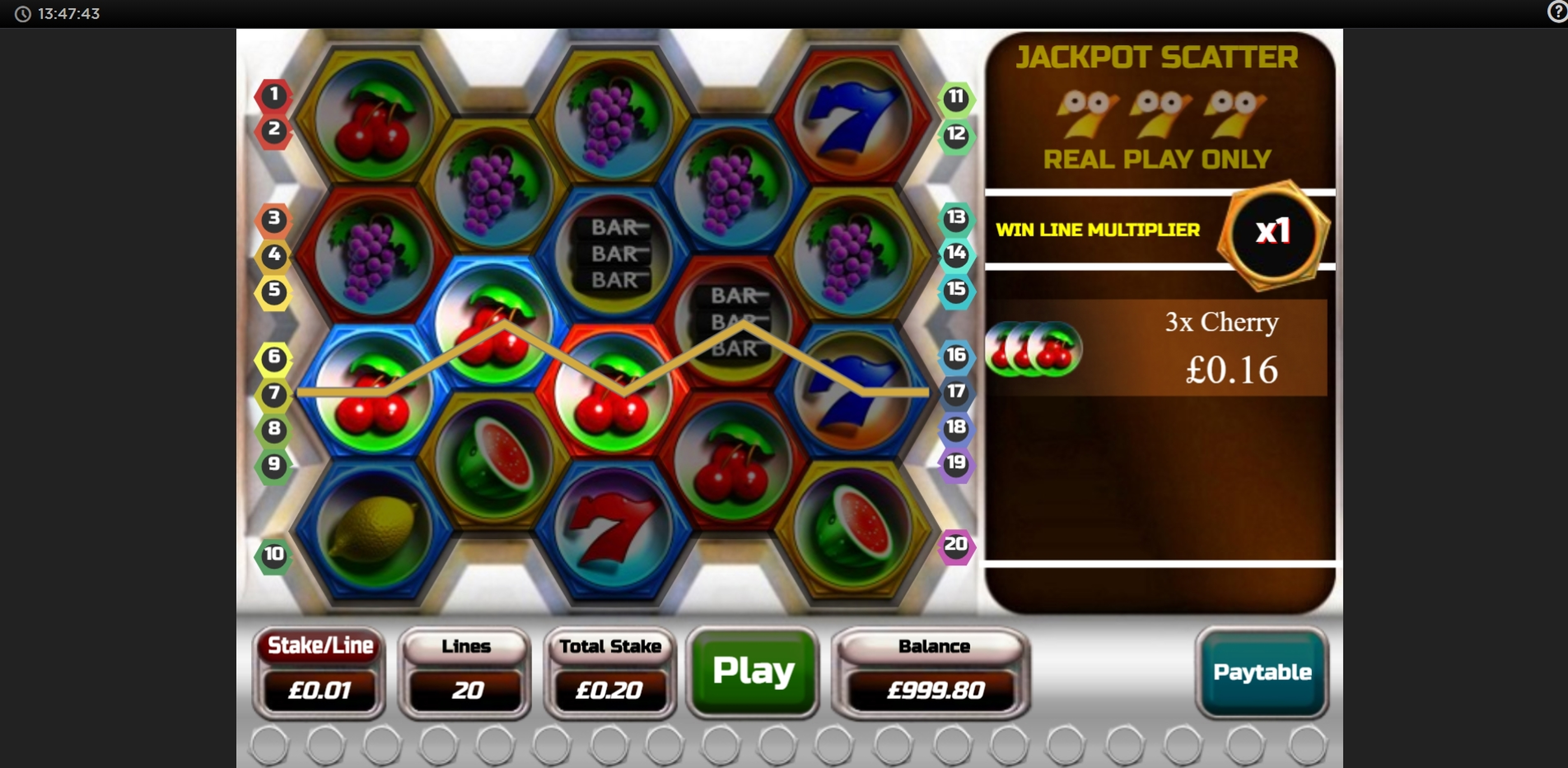 Win Money in Cashdrop Free Slot Game by OpenBet