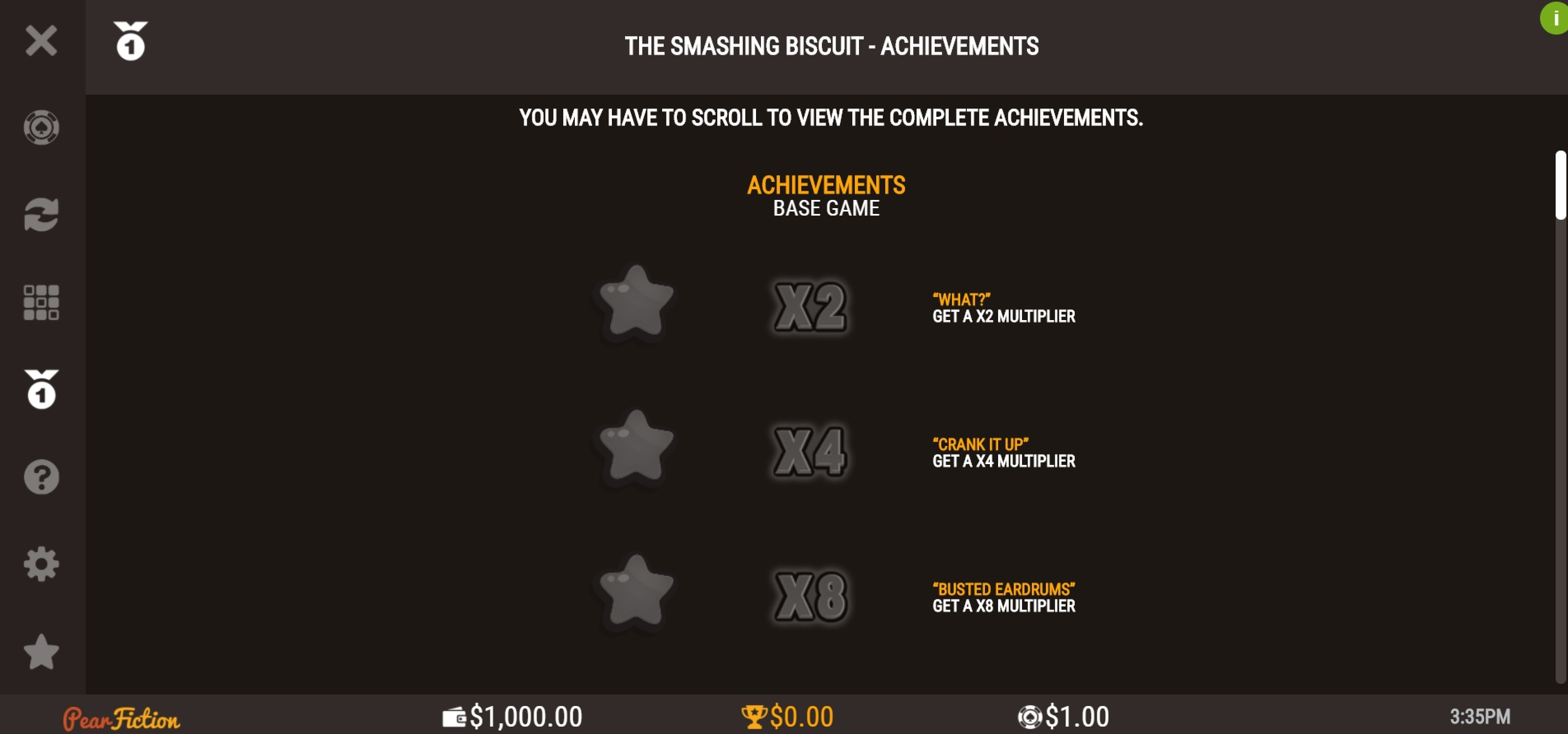 Info of The Smashing Biscuit Slot Game by PearFiction Studios