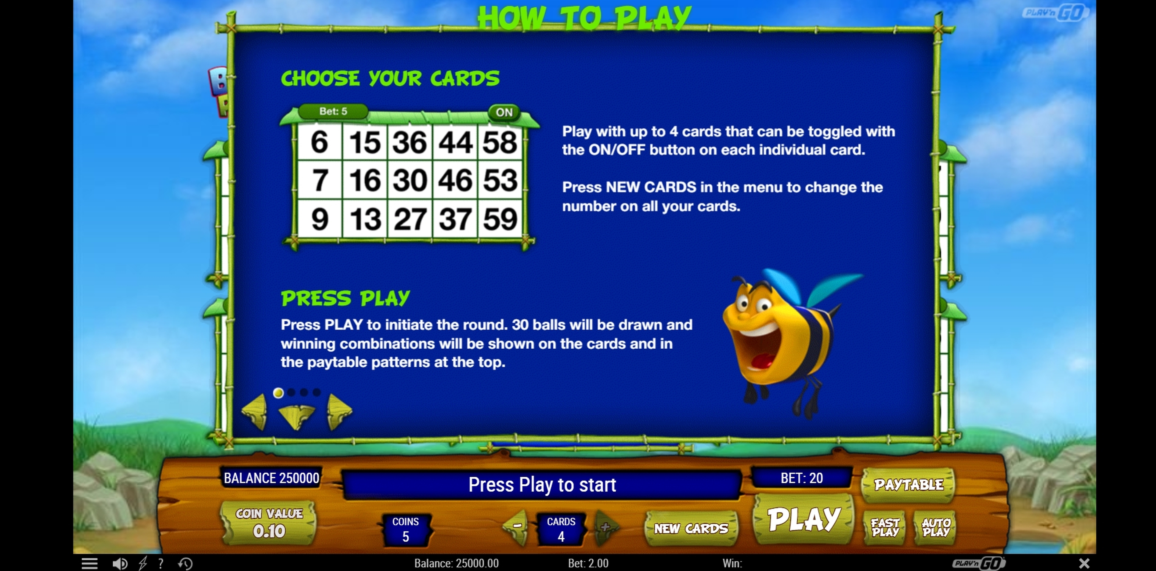 Info of Bugs Party Slot Game by Playn GO