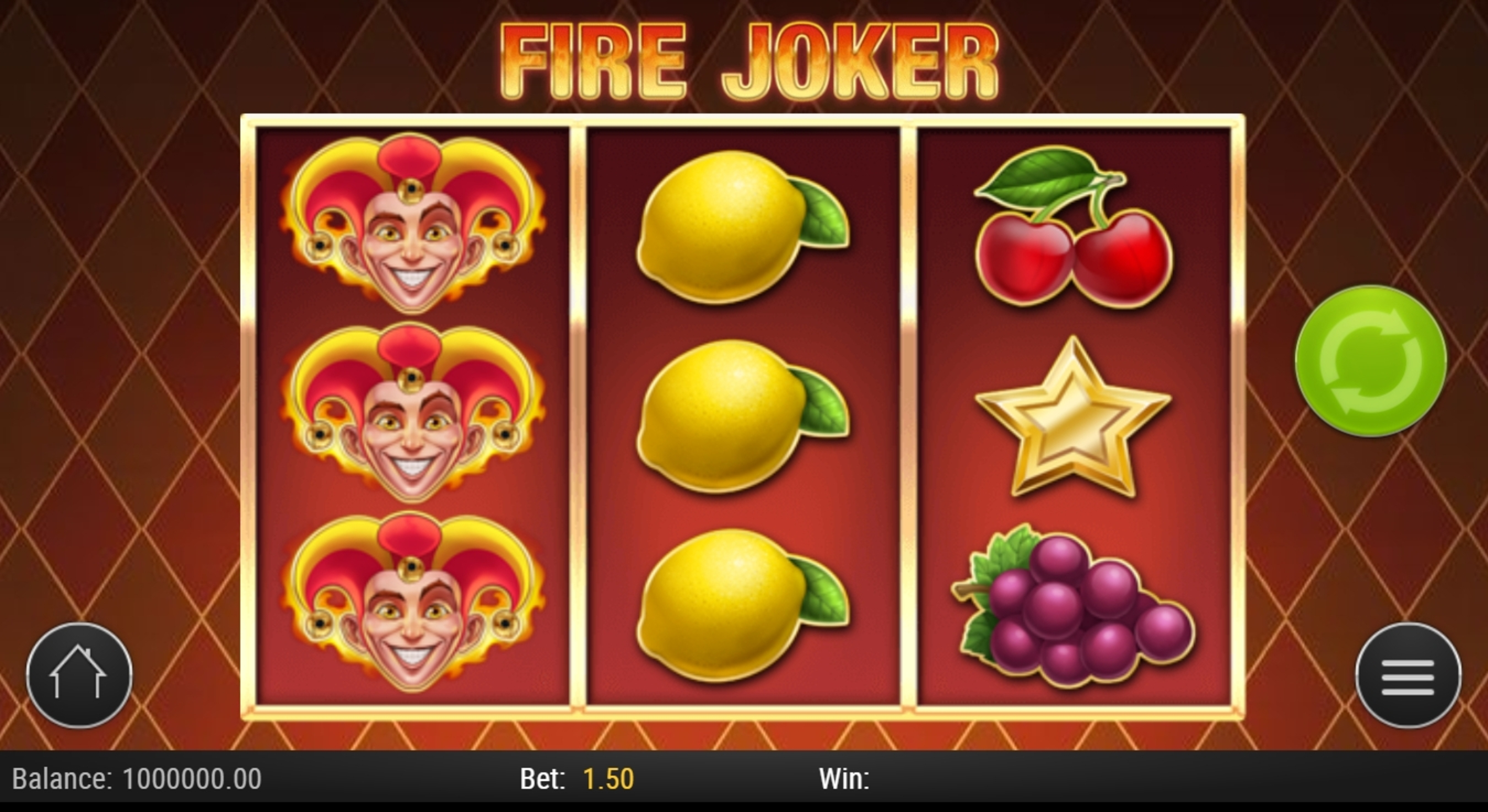 Reels in Fire Joker Slot Game by Playn GO