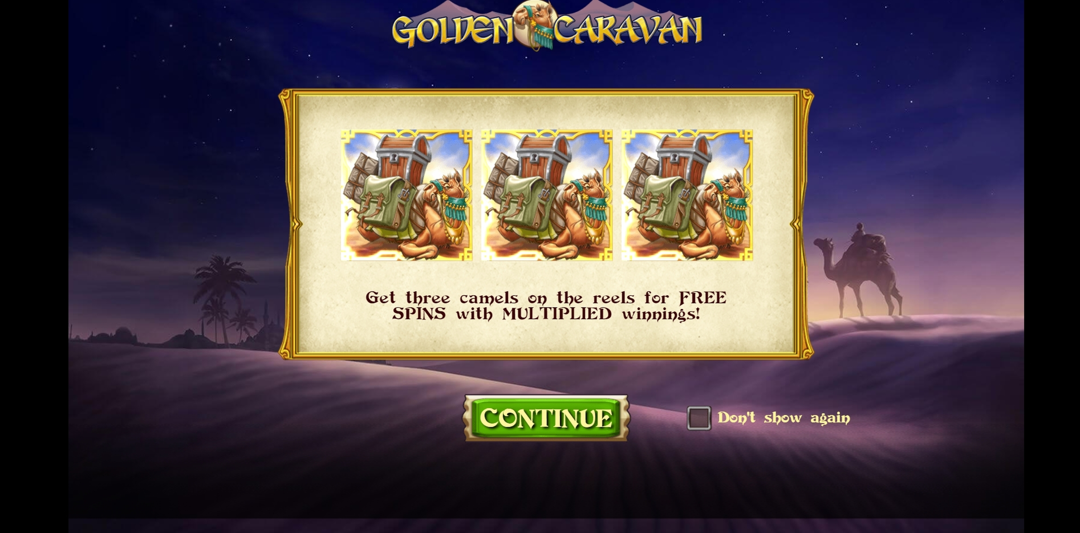 Play Golden Caravan Free Casino Slot Game by Playn GO