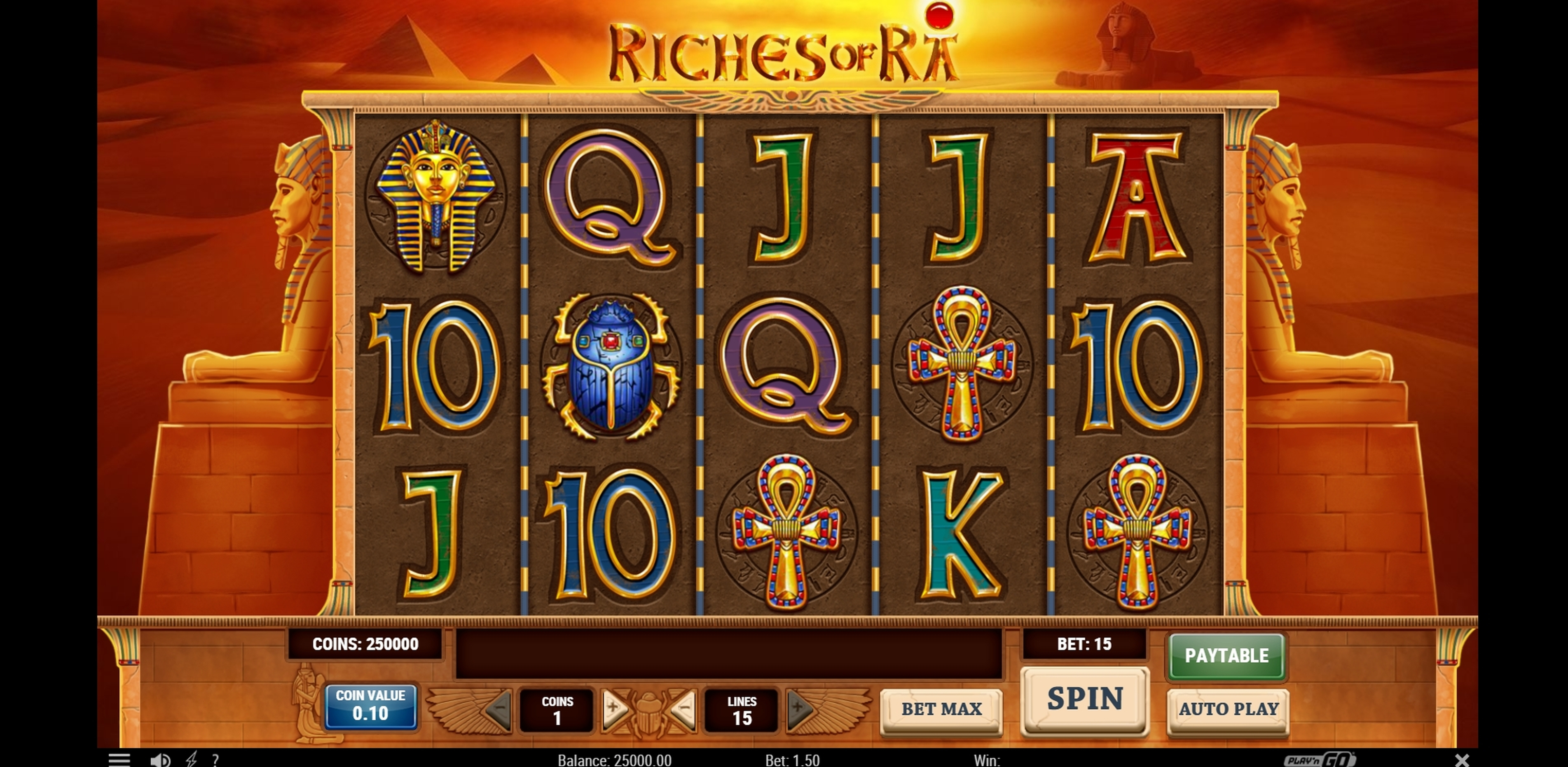 Reels in Riches of Ra Slot Slot Game by Playn GO
