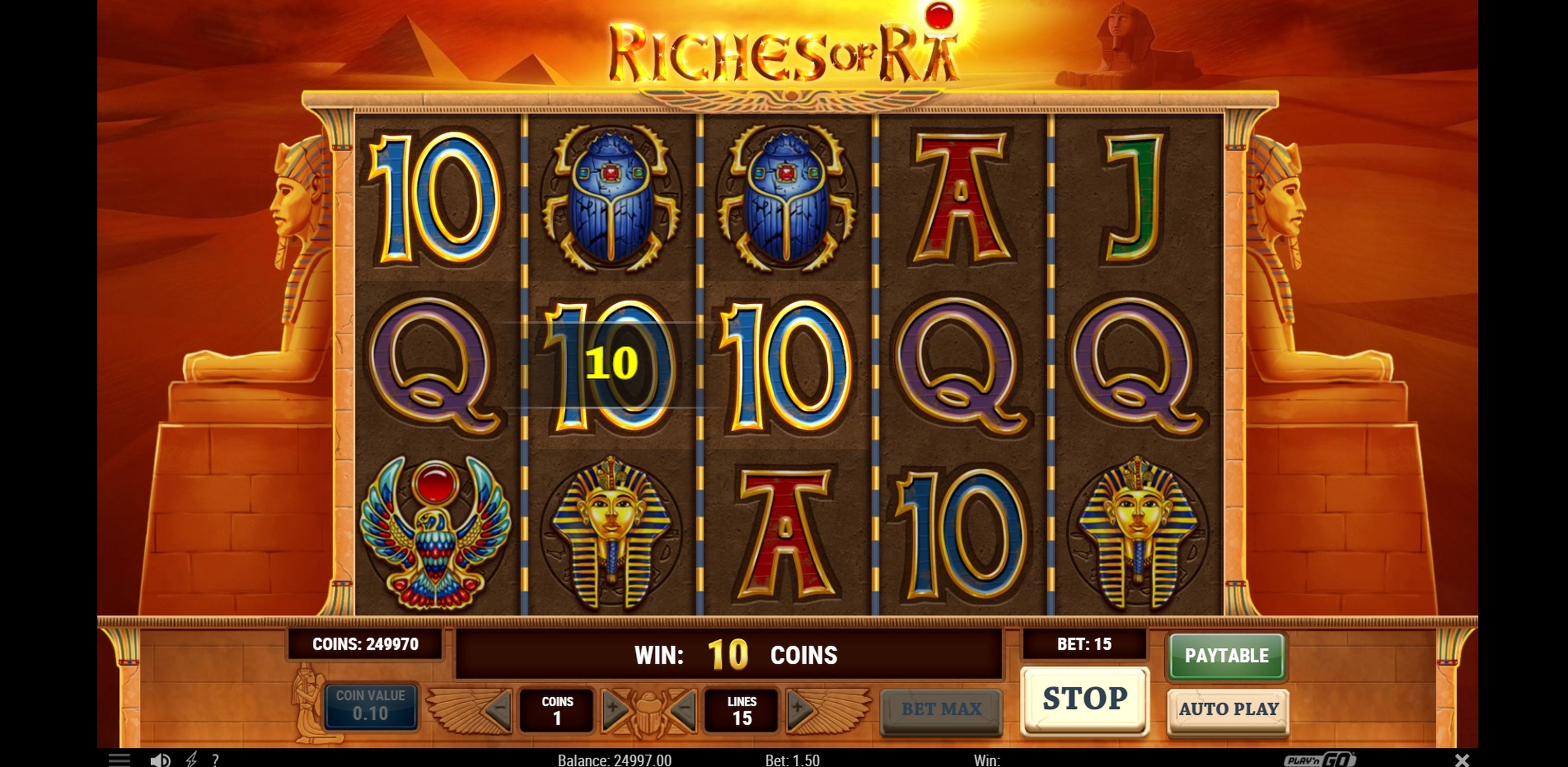 Win Money in Riches of Ra Slot Free Slot Game by Playn GO