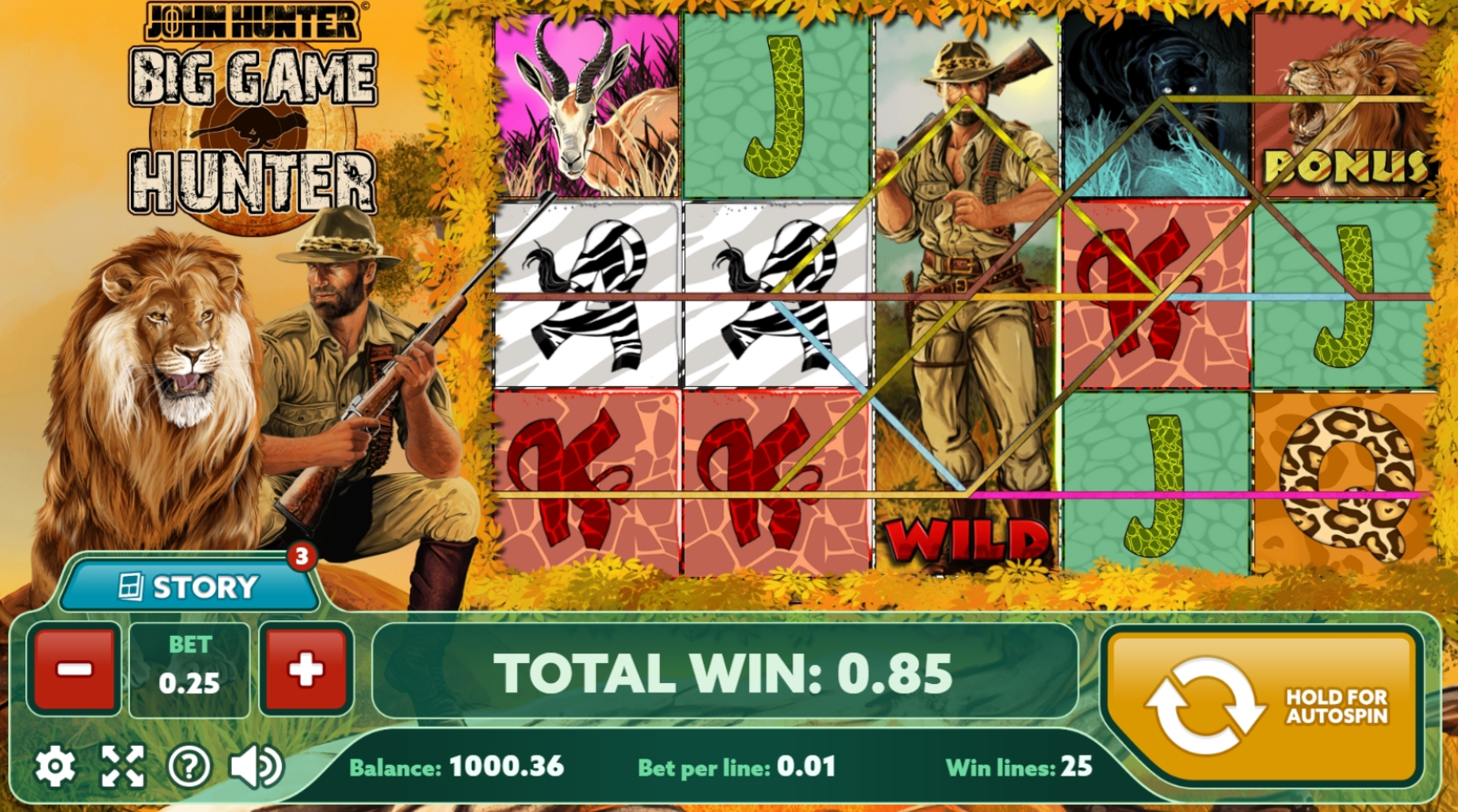 Win Money in Big Game Hunter Free Slot Game by PlayPearls