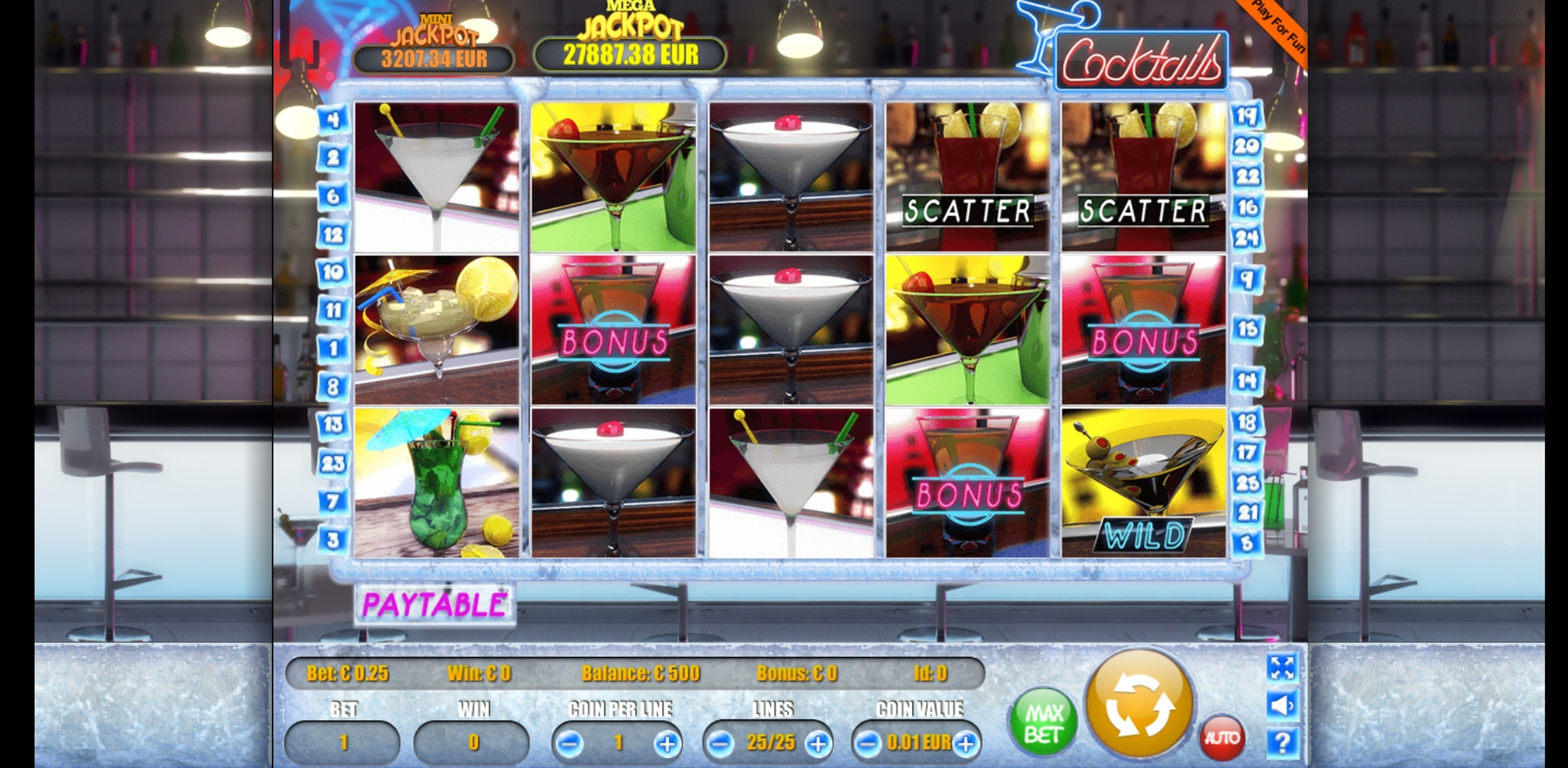 Reels in Cocktails Slot Game by Portomaso Gaming