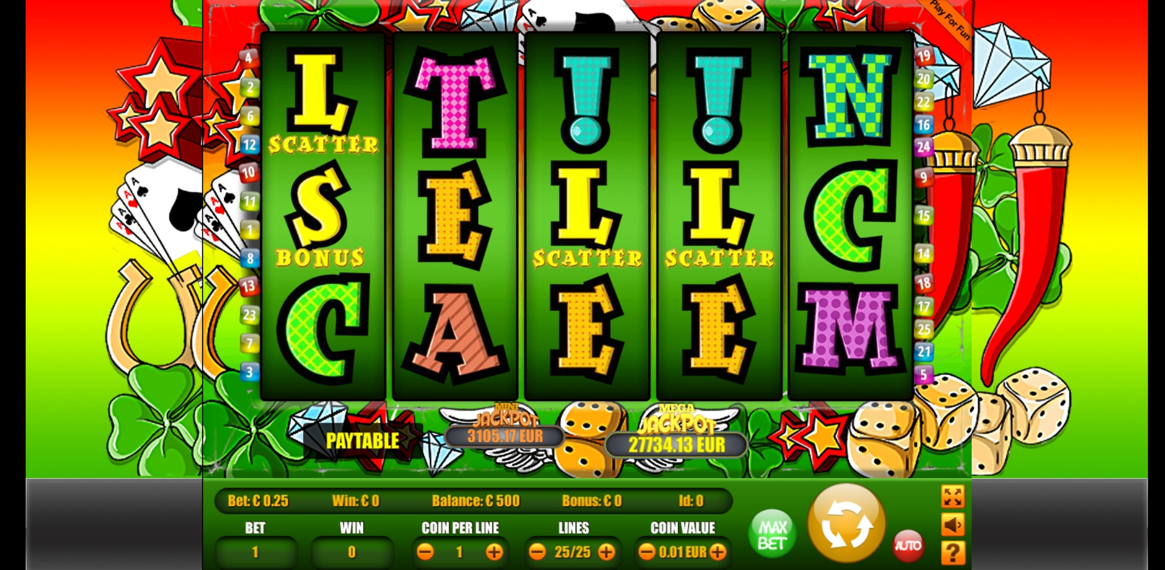 Reels in Lucky Letters Slot Game by Portomaso Gaming