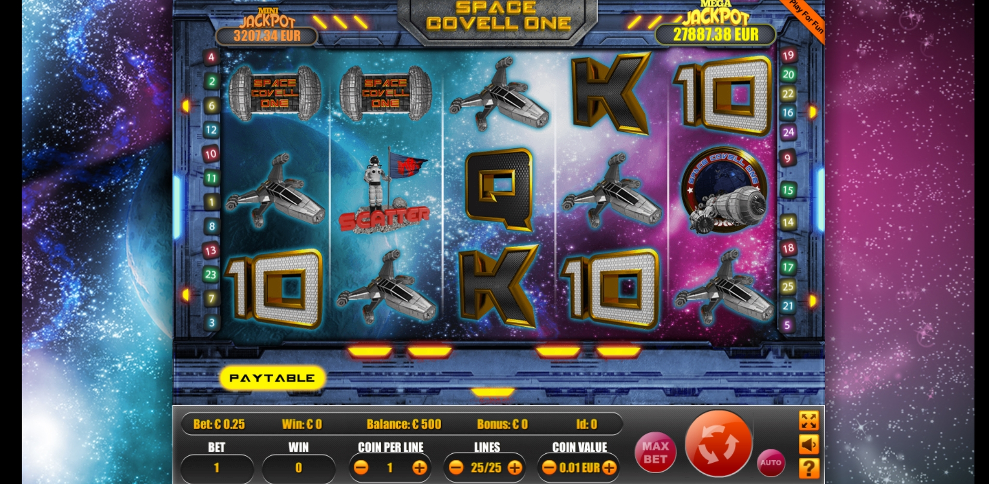 Reels in Space Covell One Slot Game by Portomaso Gaming