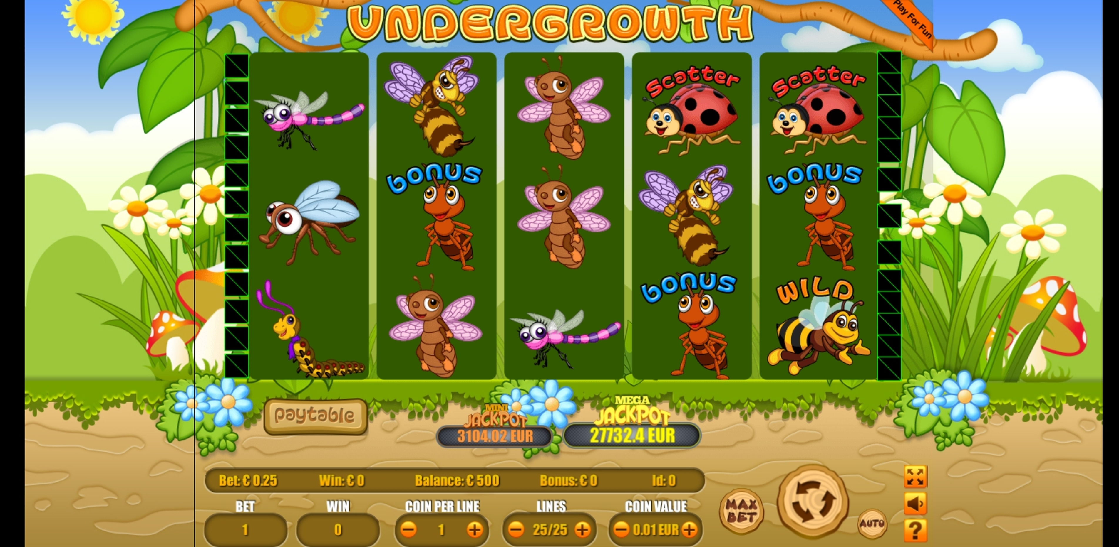 Reels in Undergrowth Slot Game by Portomaso Gaming