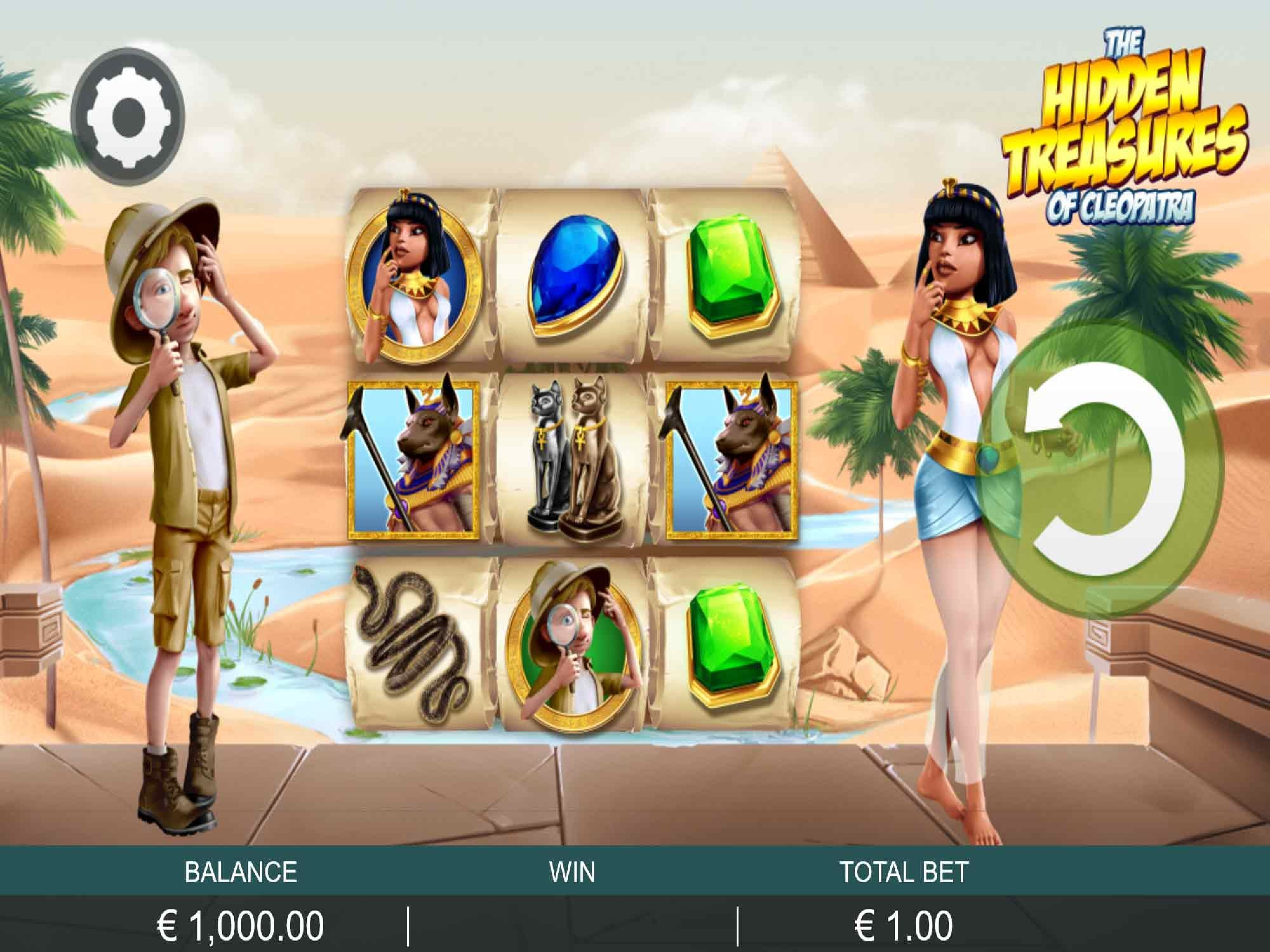 The The Hidden Treasure of Cleopatra Online Slot Demo Game by Probability Jones