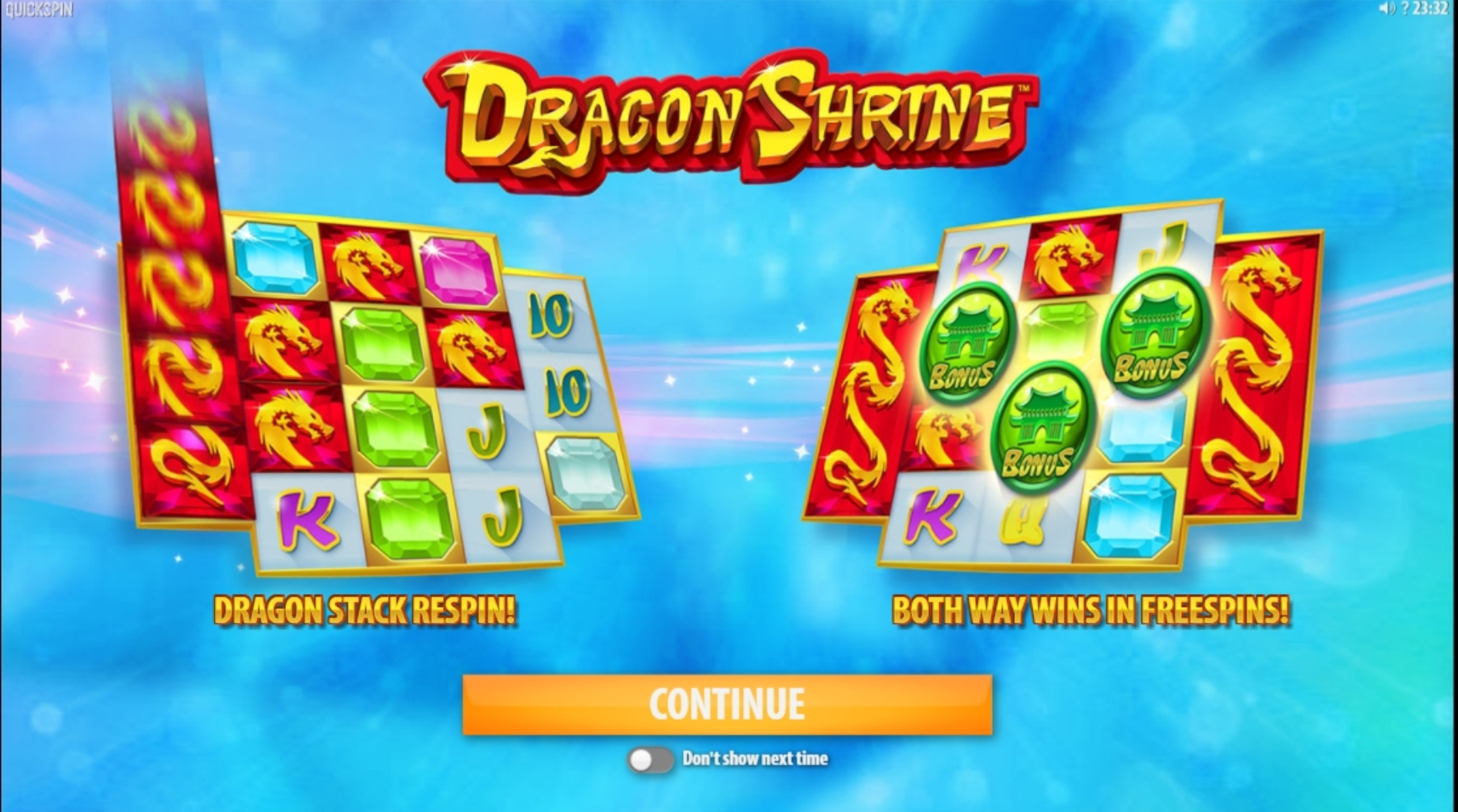 Play Dragon Shrine Free Casino Slot Game by Quickspin