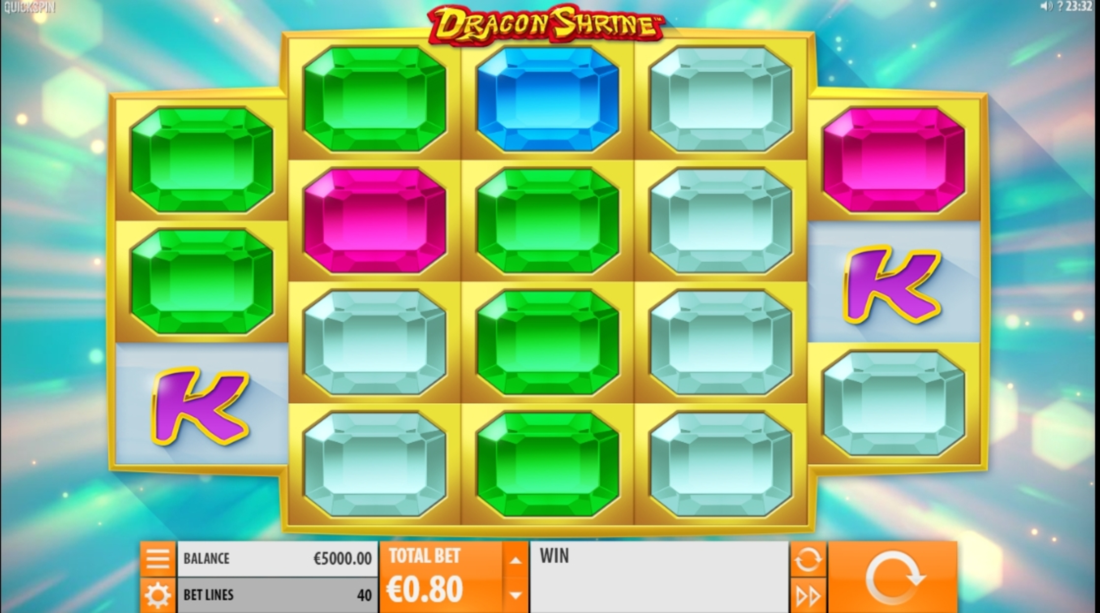 Reels in Dragon Shrine Slot Game by Quickspin