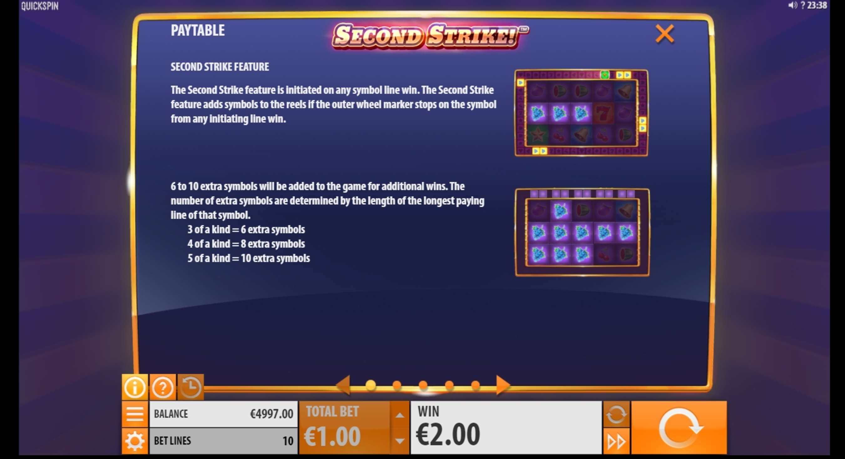 Info of Second Strike Slot Game by Quickspin