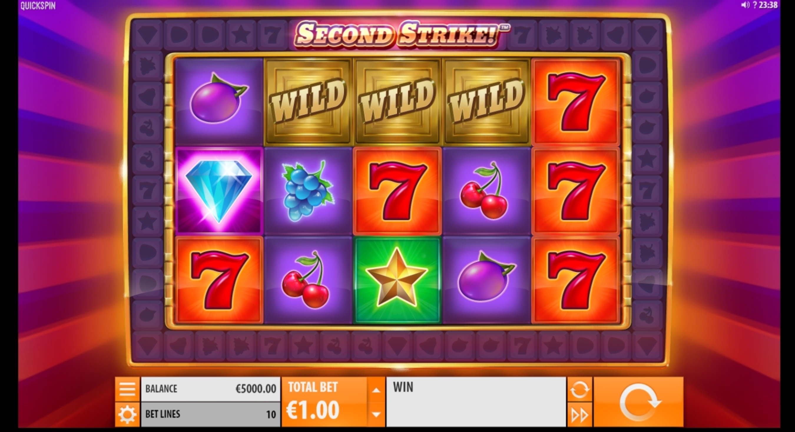 Reels in Second Strike Slot Game by Quickspin
