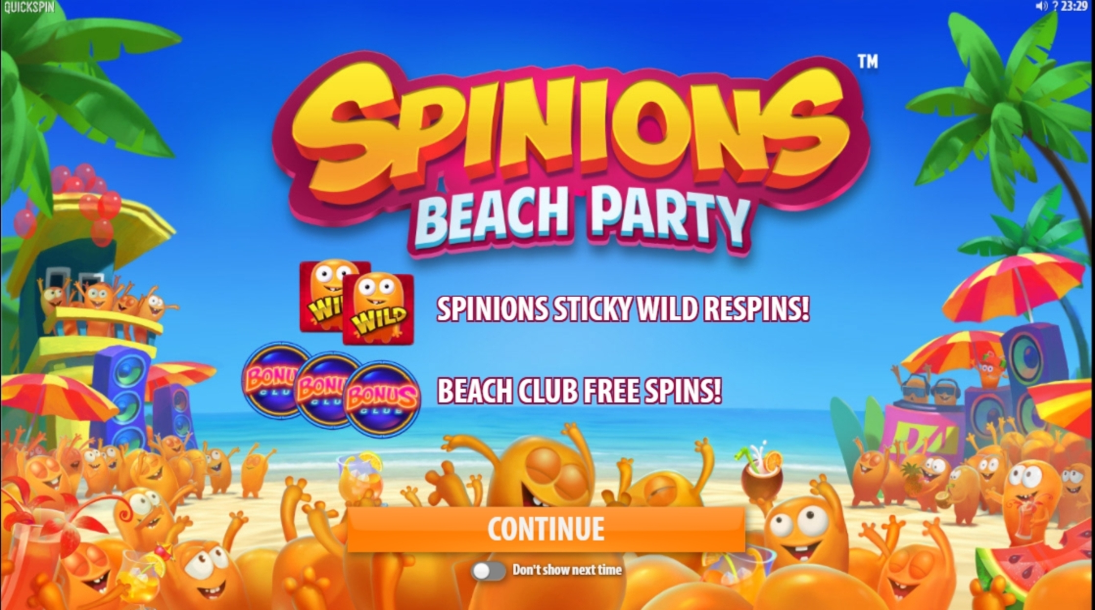 Play Spinions Free Casino Slot Game by Quickspin
