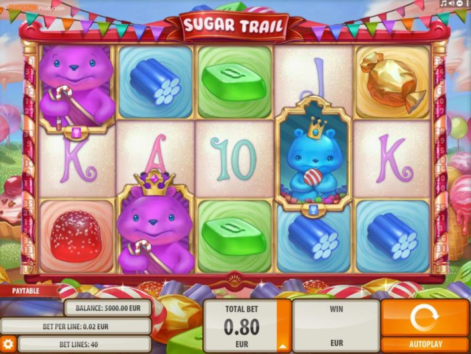 The Sugar Trail Online Slot Demo Game by Quickspin