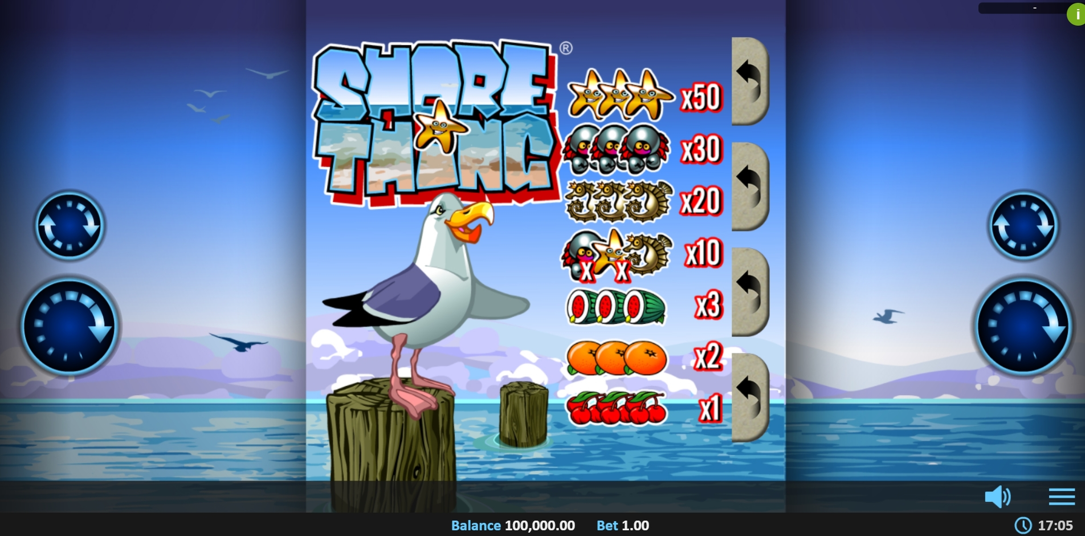 Reels in Shore Thing Pull Tab Slot Game by Realistic