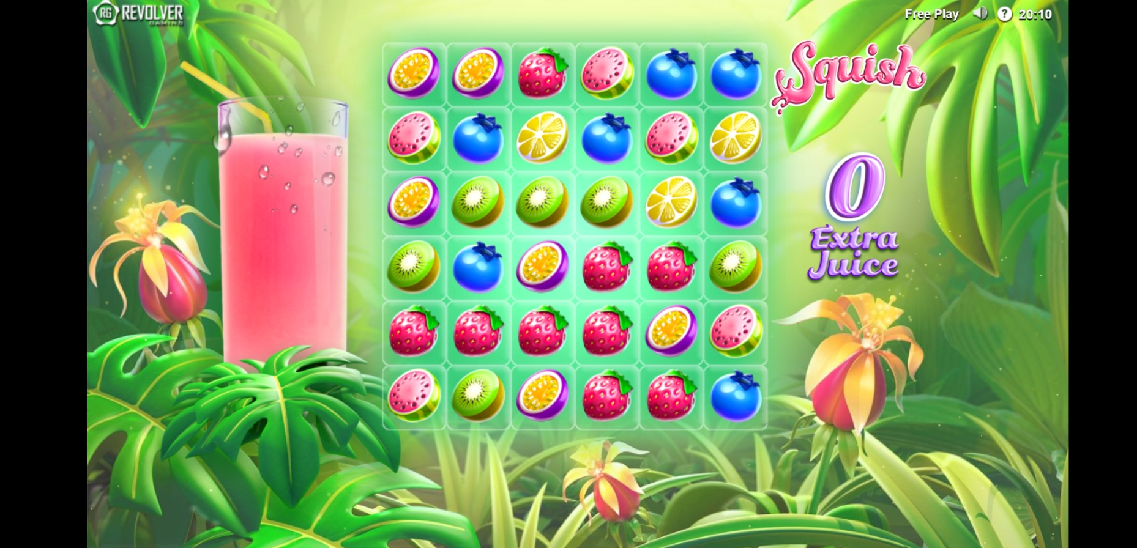 Reels in Squish Slot Game by Revolver Gaming