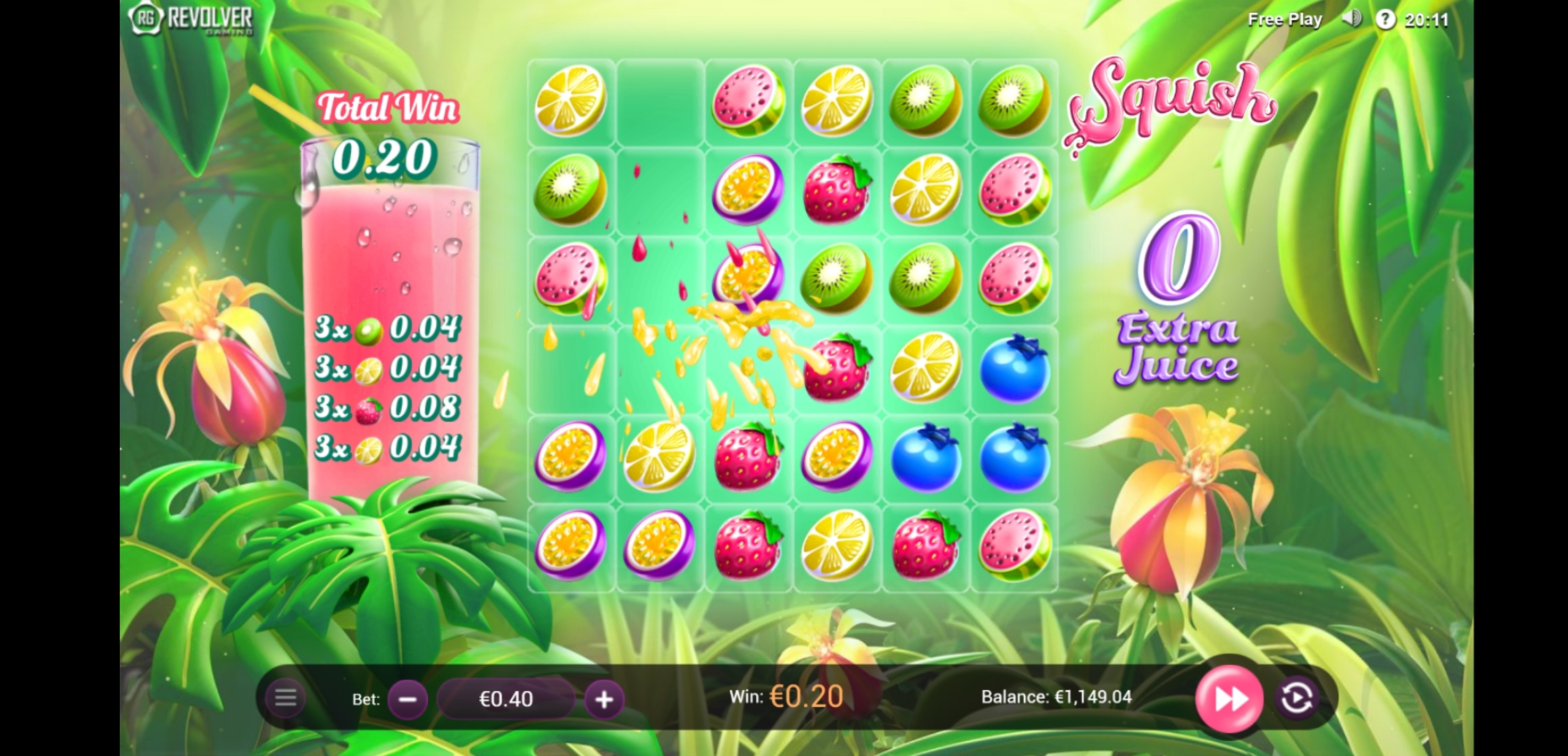 Win Money in Squish Free Slot Game by Revolver Gaming