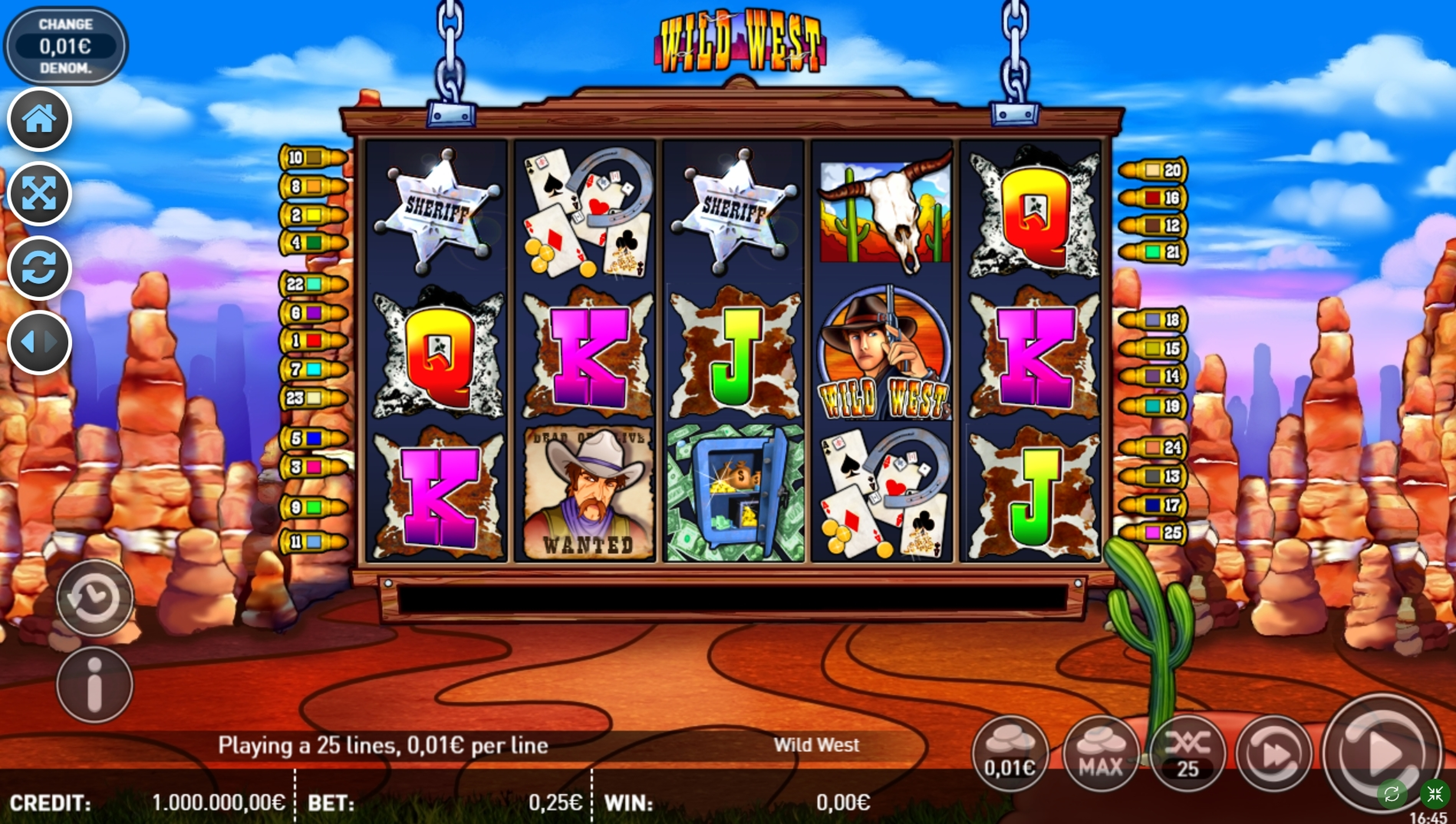 Reels in Wild West (R. Franco) Slot Game by R. Franco