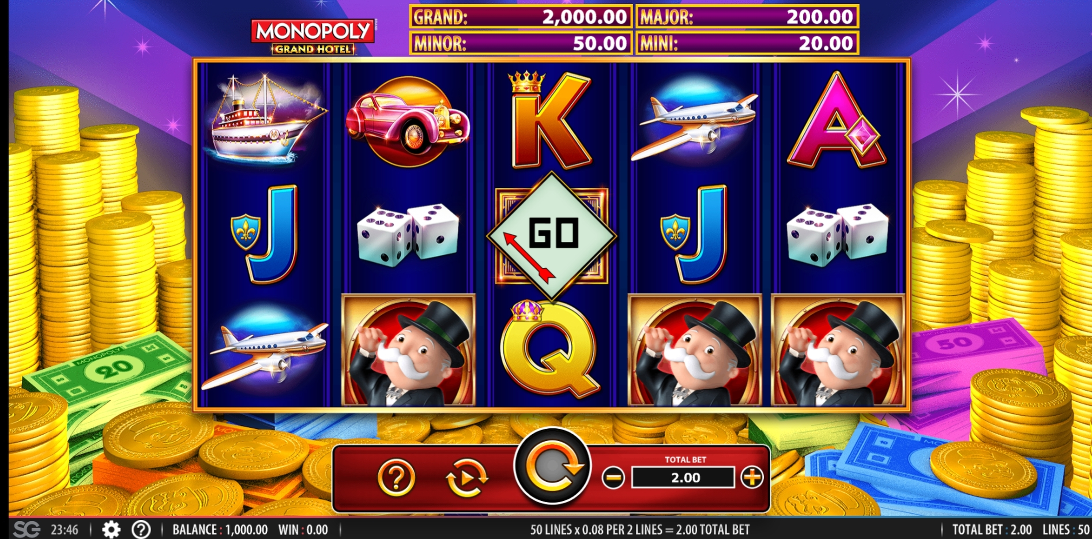 Reels in Monopoly Grand Hotel Slot Game by WMS