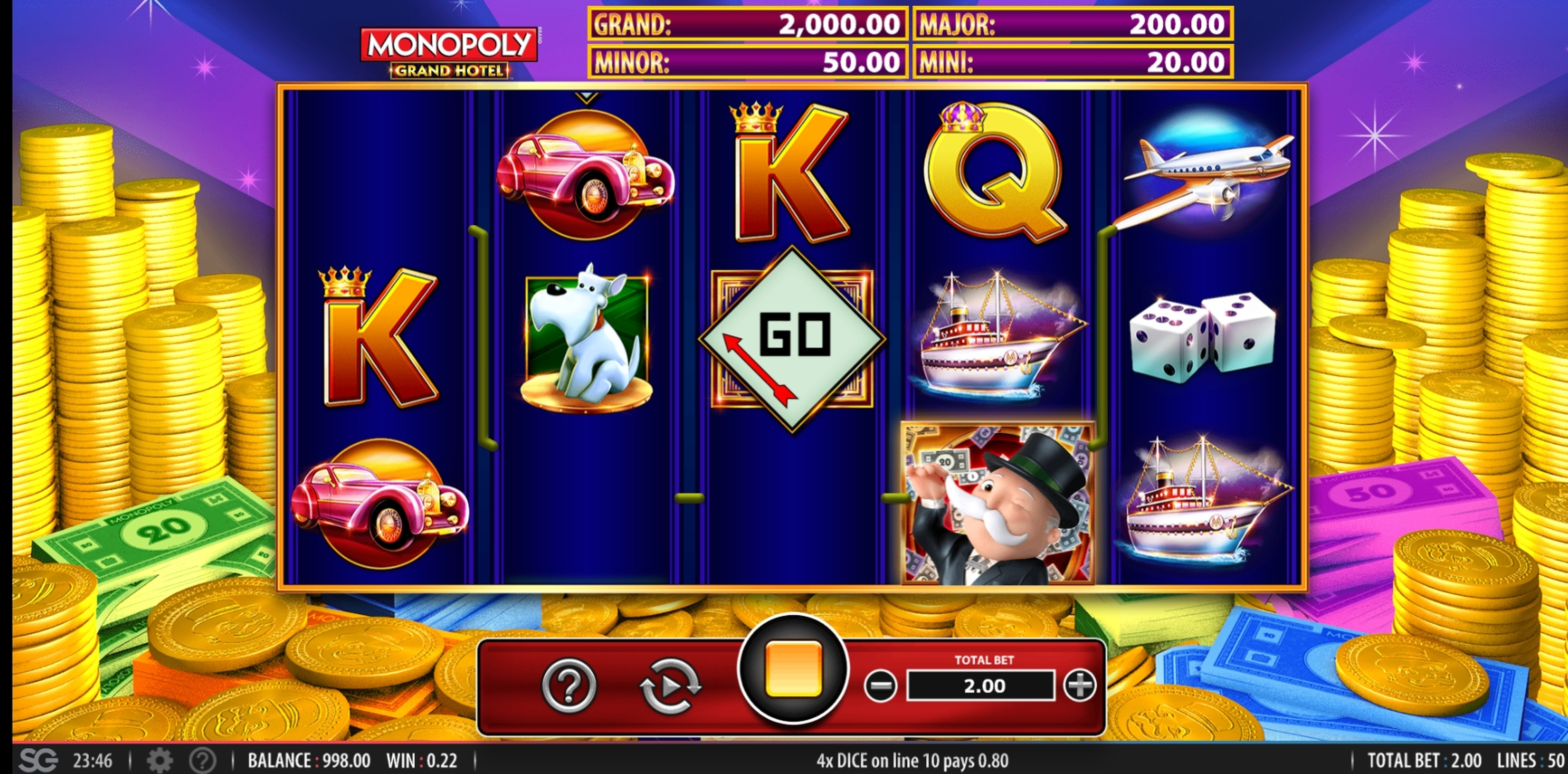 Win Money in Monopoly Grand Hotel Free Slot Game by WMS