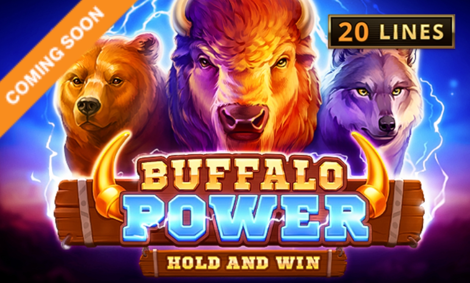 Win Money in Buffalo Lightning Free Slot Game by Skywind