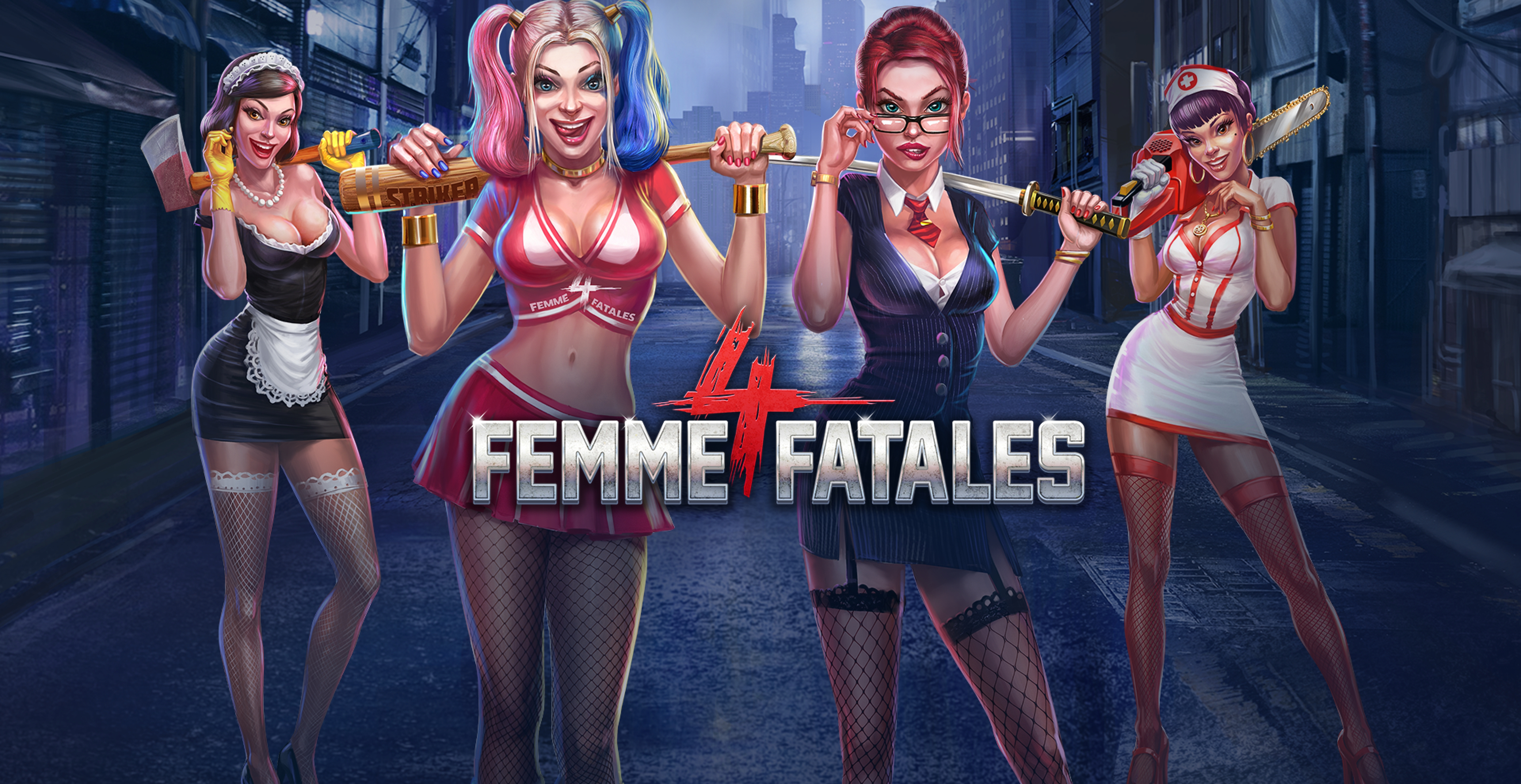 Win Money in Four Femme Fatales Free Slot Game by Skywind