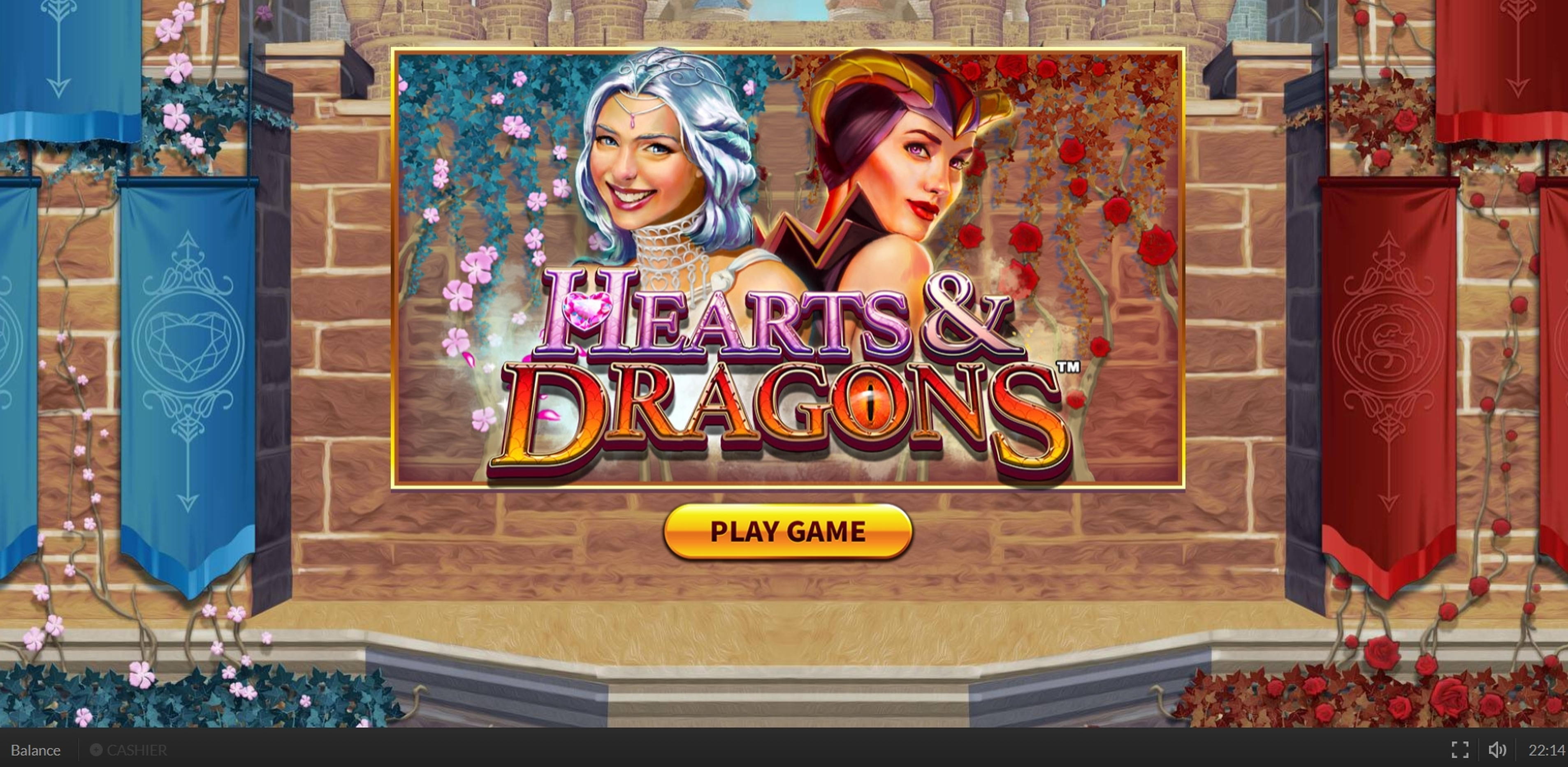 Win Money in Hearts and Dragons Free Slot Game by Skywind