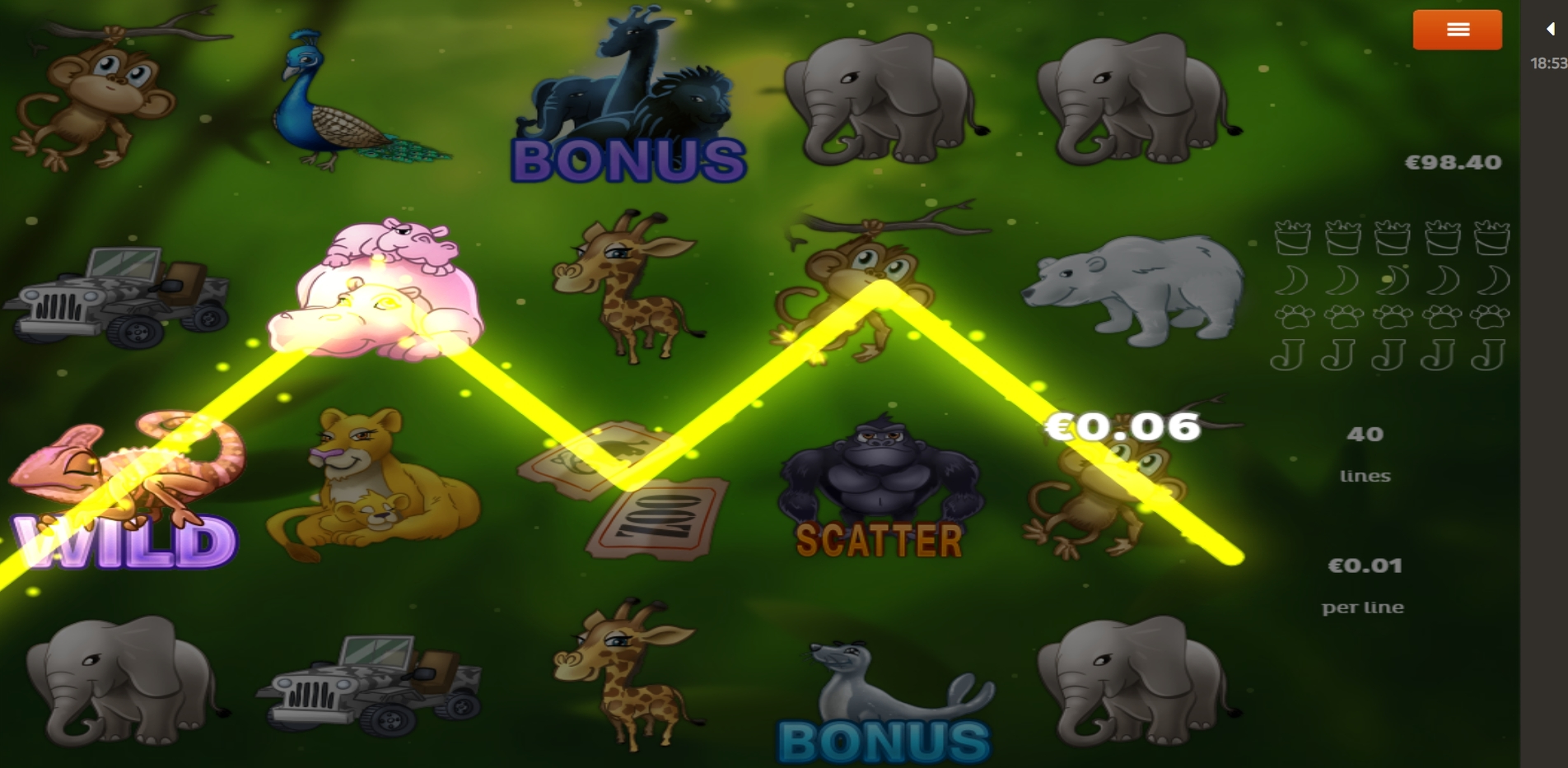 Win Money in Zoo Free Slot Game by Spigo