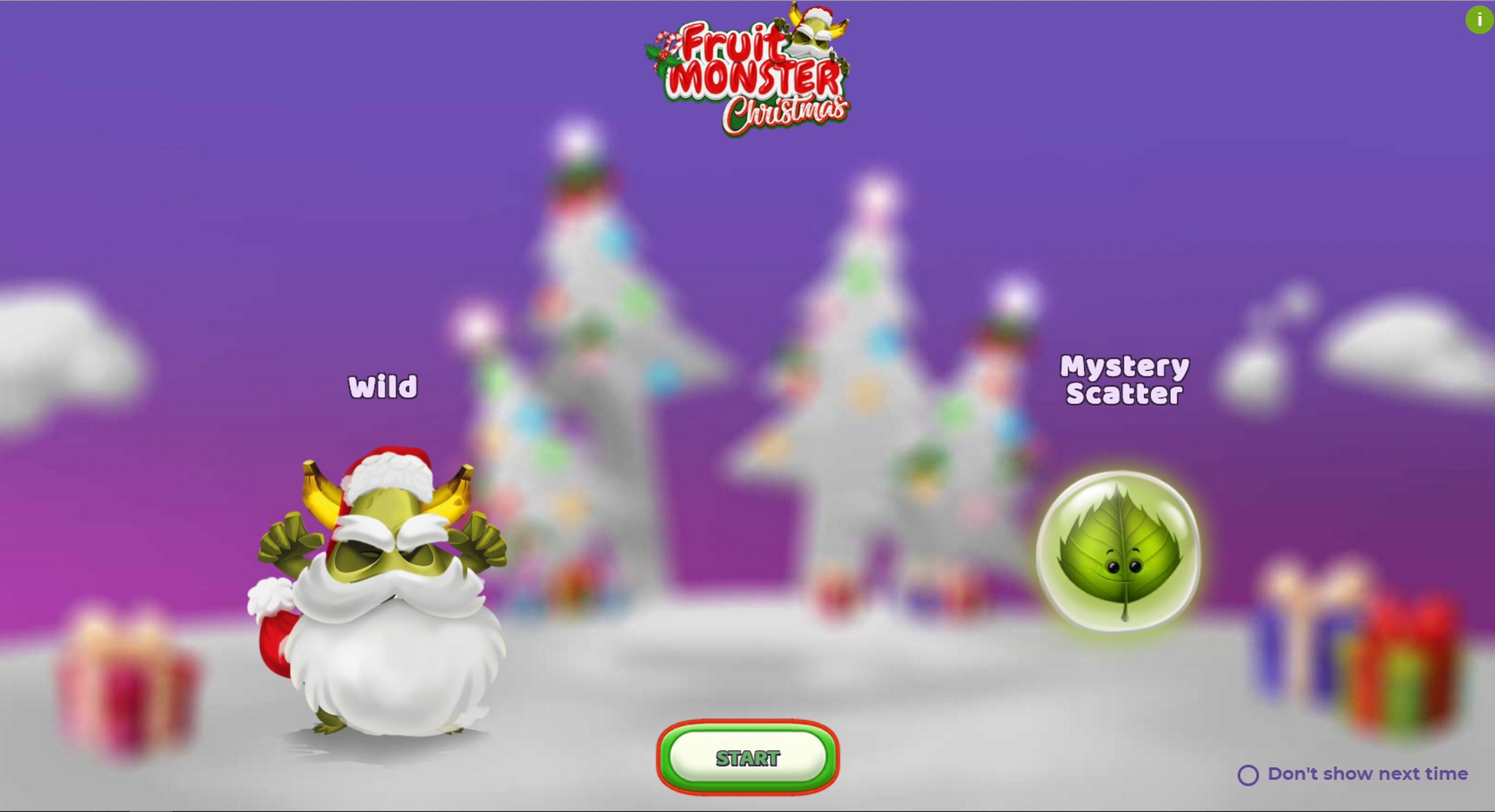 Play Fruit Monster Christmas Free Casino Slot Game by Spinmatic