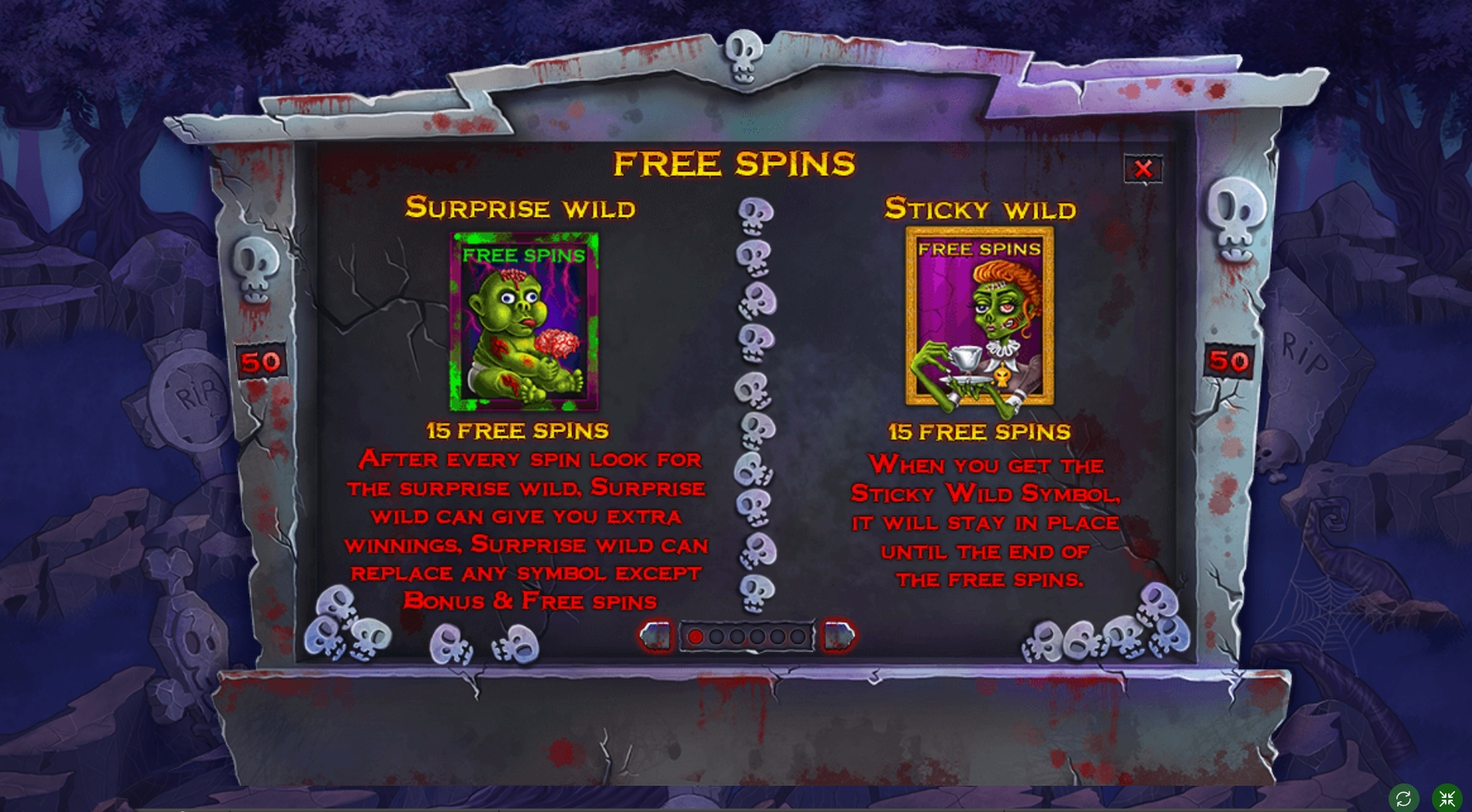 Info of Zombie slot mania Slot Game by Spinomenal