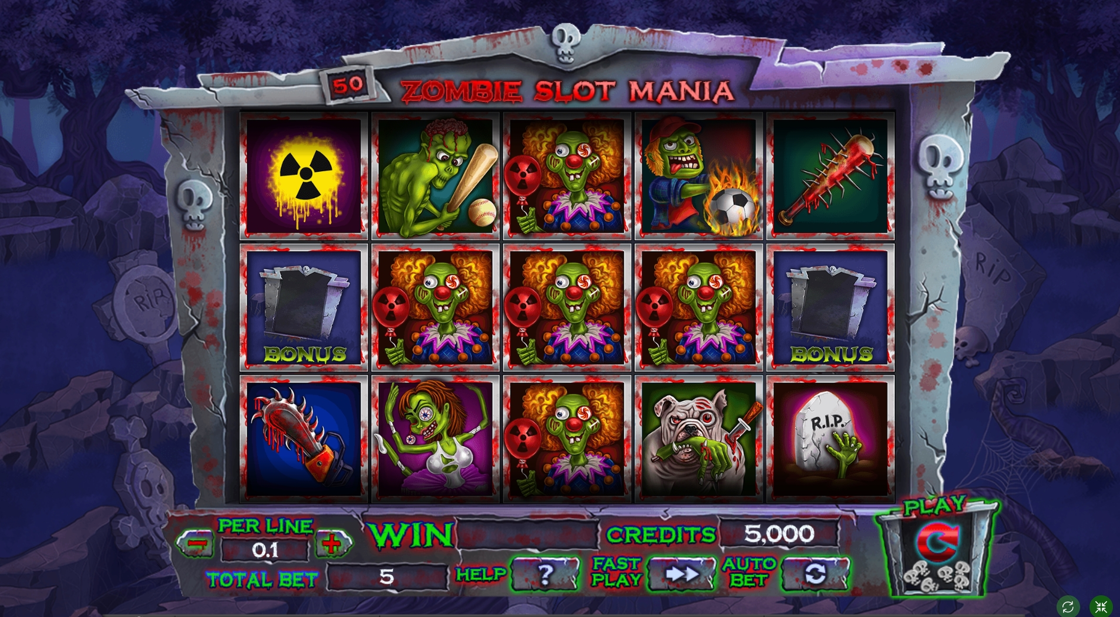 Reels in Zombie slot mania Slot Game by Spinomenal
