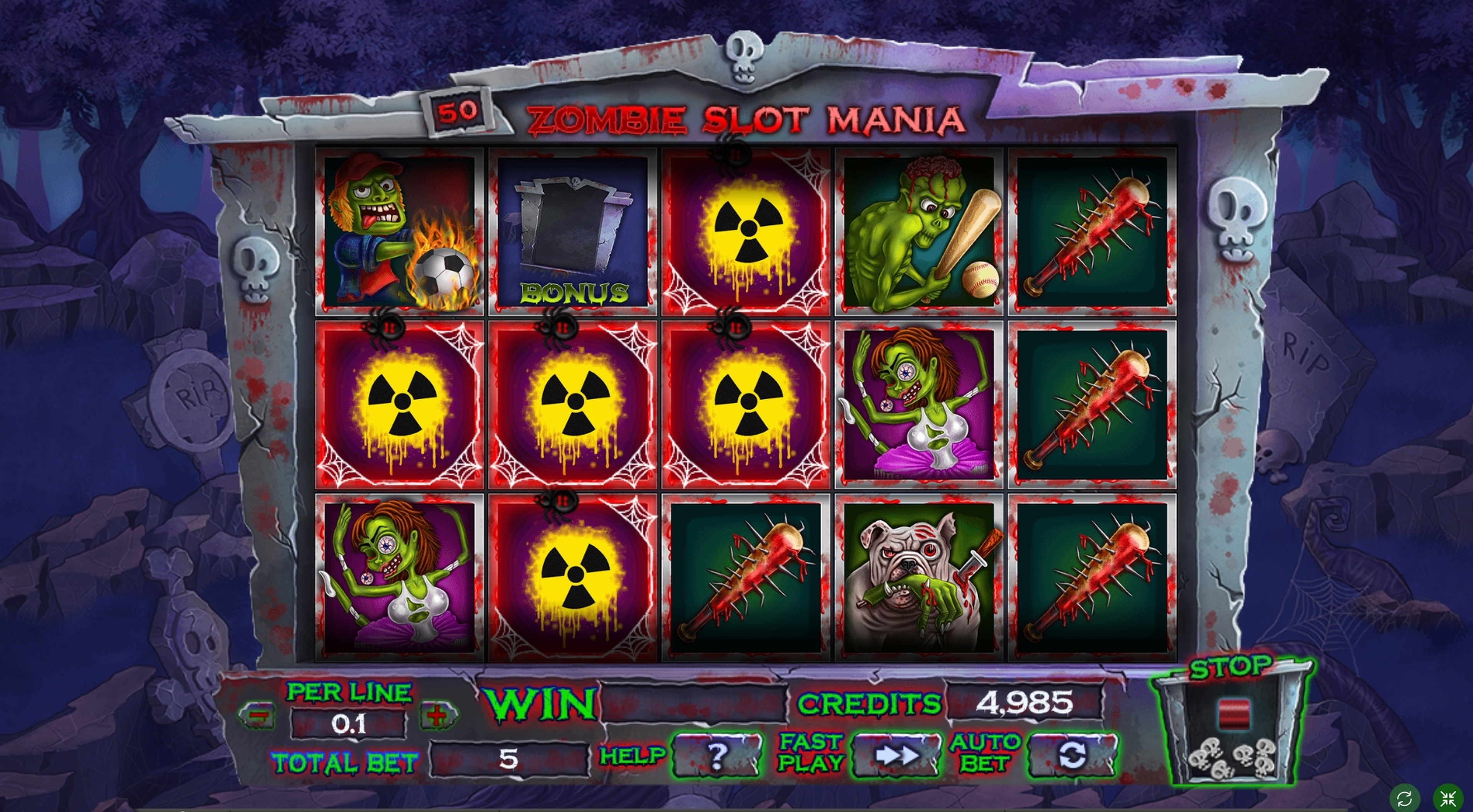 Win Money in Zombie slot mania Free Slot Game by Spinomenal