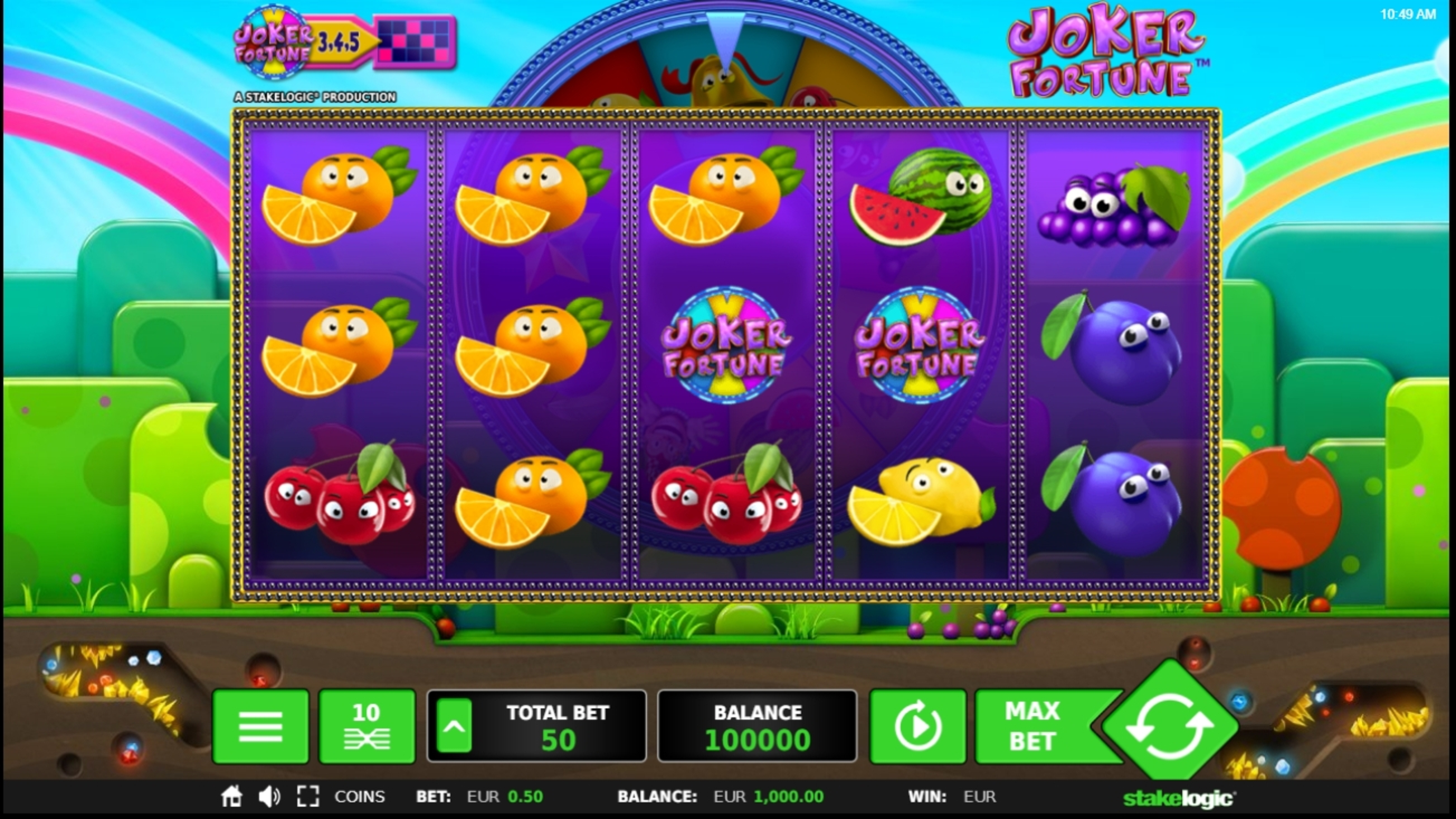 Reels in Joker Fortune Slot Game by StakeLogic