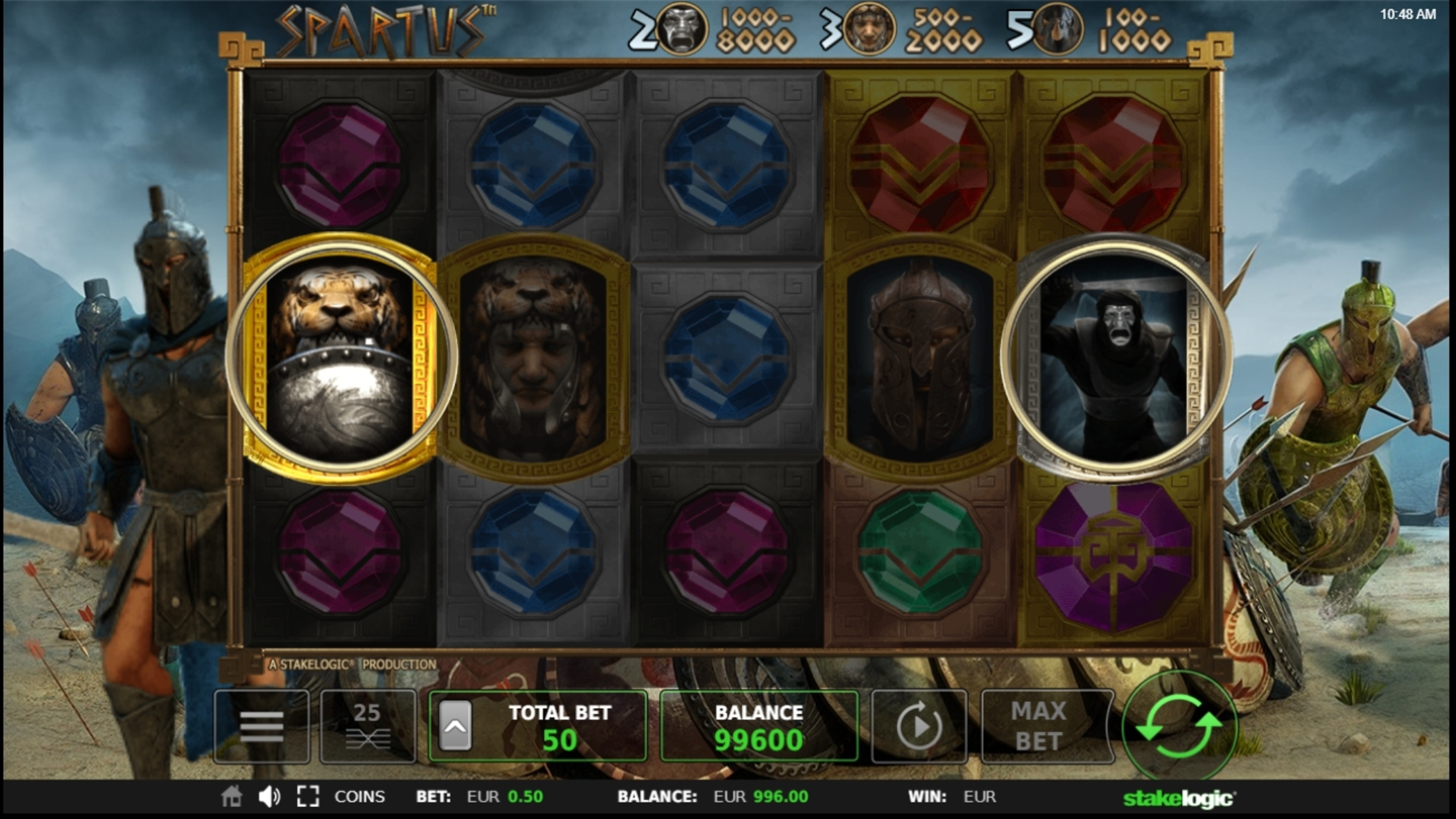 Win Money in Spartus Free Slot Game by StakeLogic