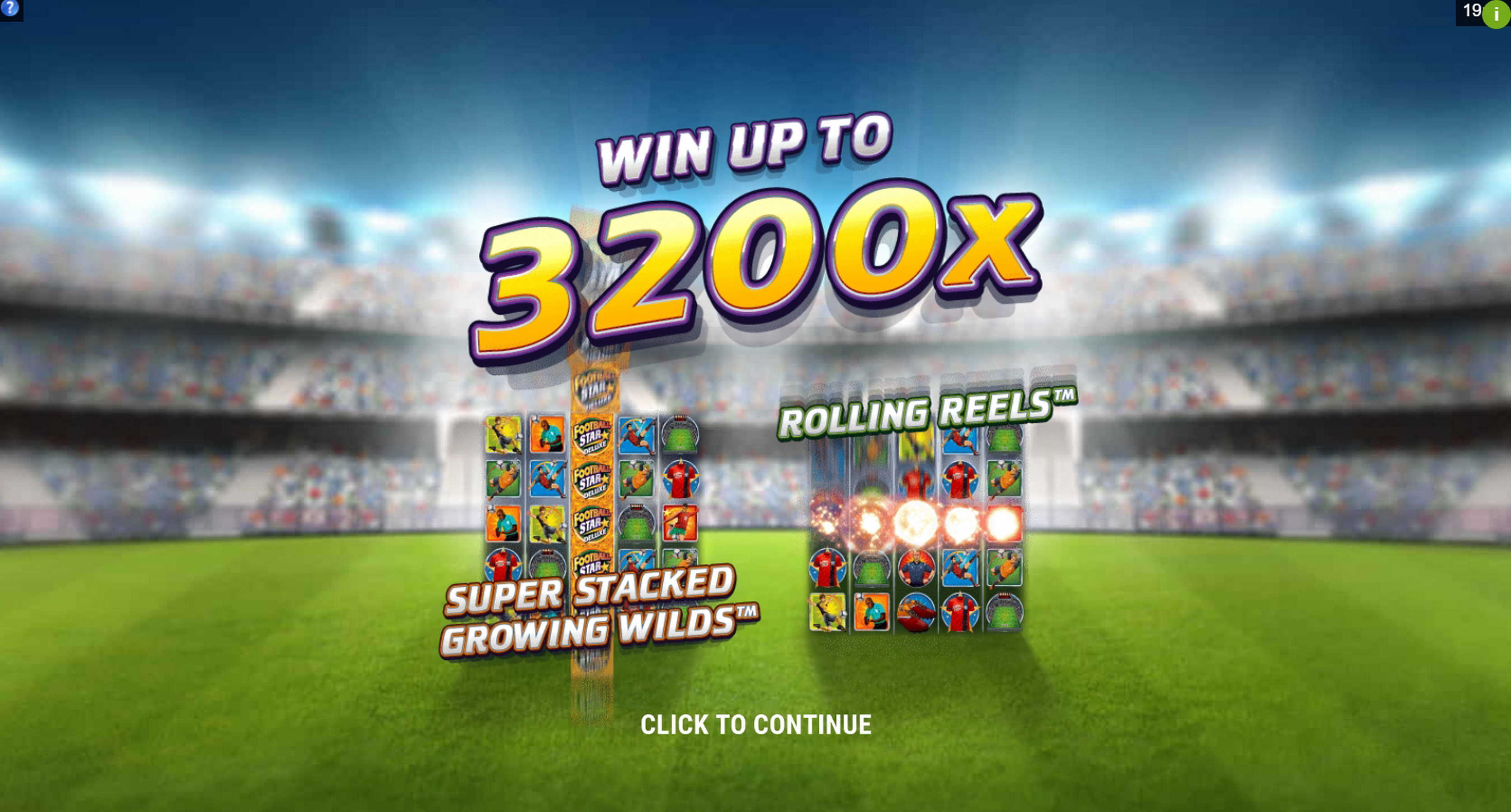 Play Football Star Deluxe Free Casino Slot Game by Stormcraft Studios