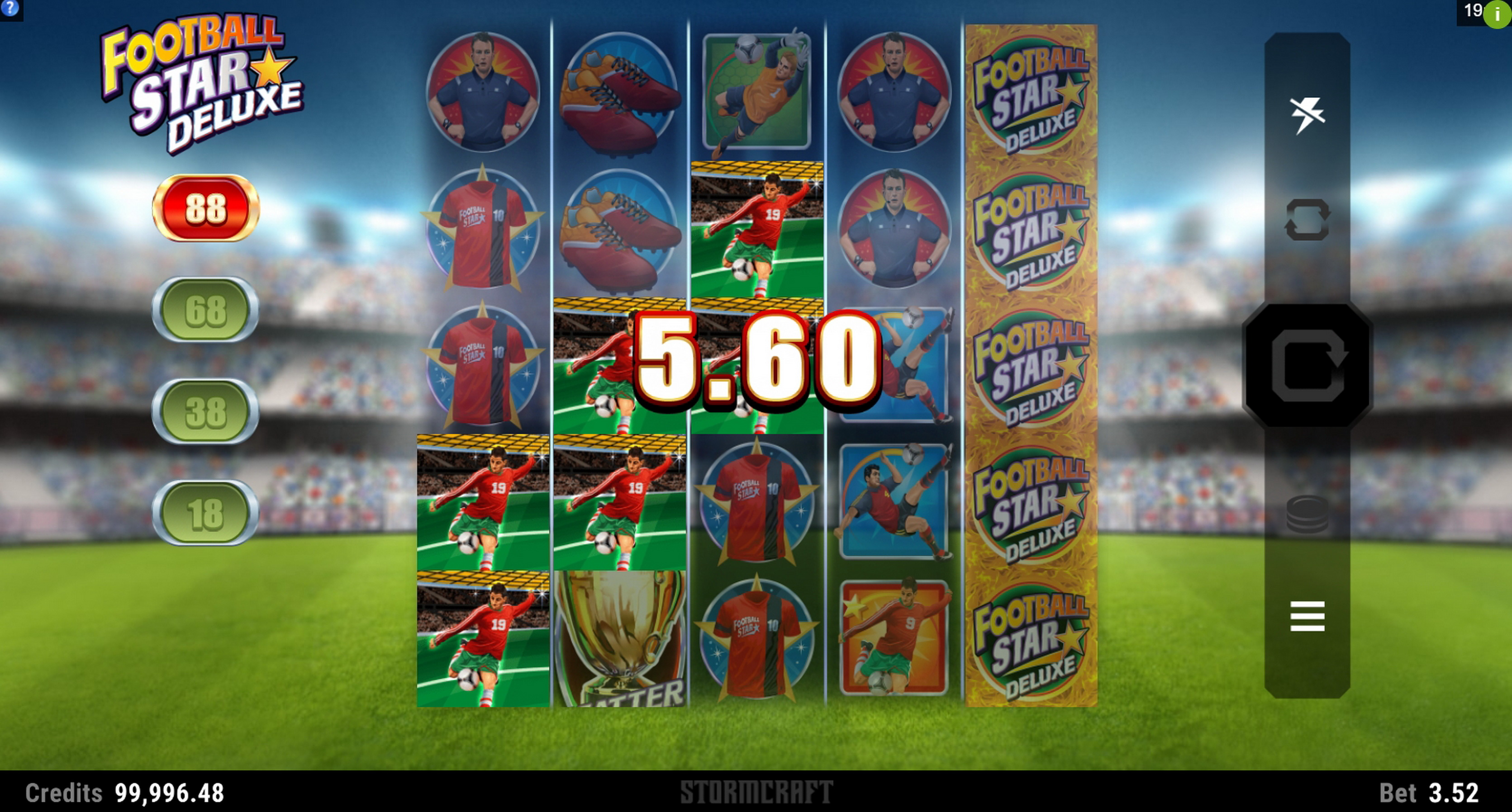Win Money in Football Star Deluxe Free Slot Game by Stormcraft Studios