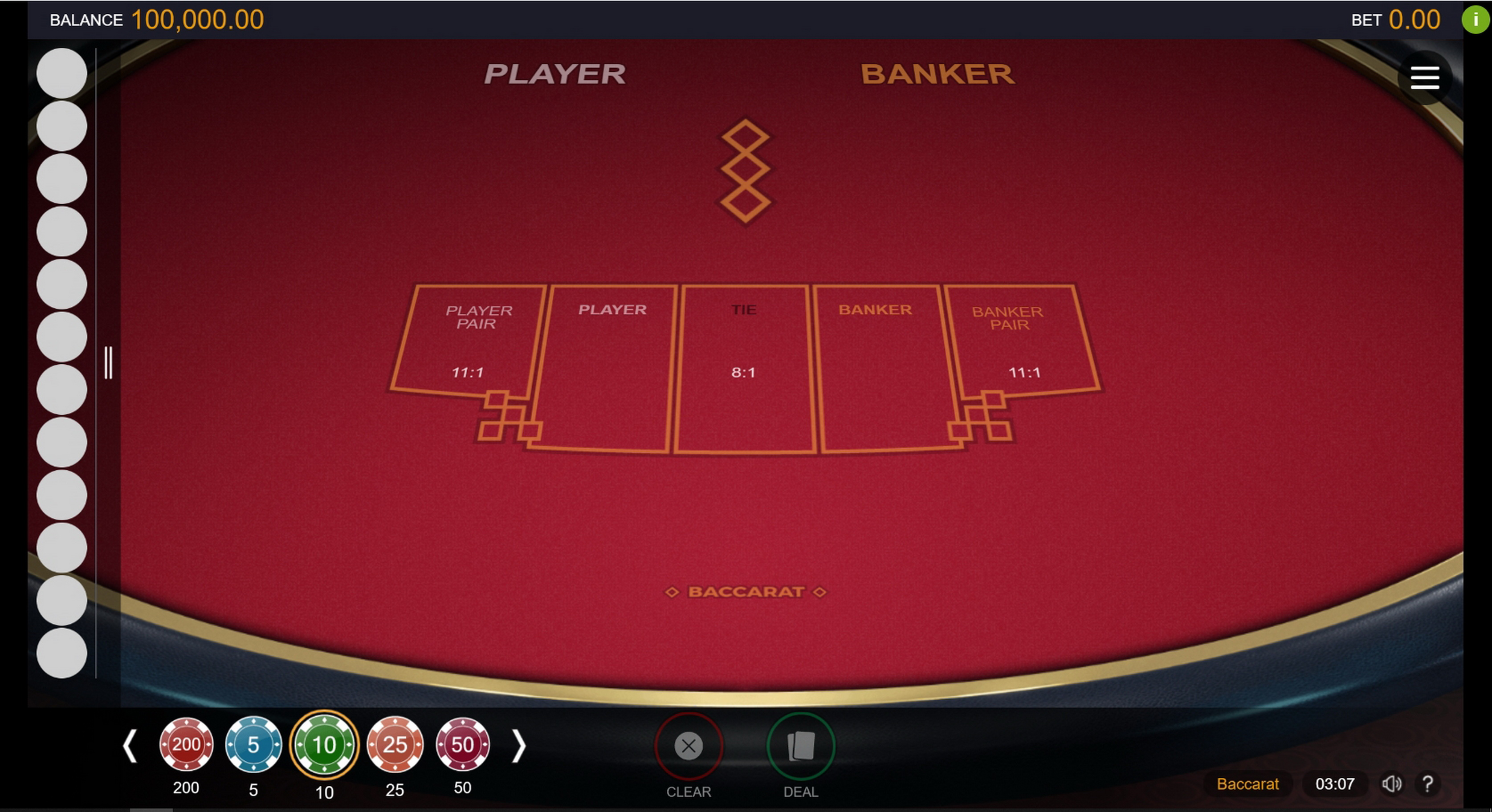 Reels in Baccarat (Switch Studios) Slot Game by Switch Studios