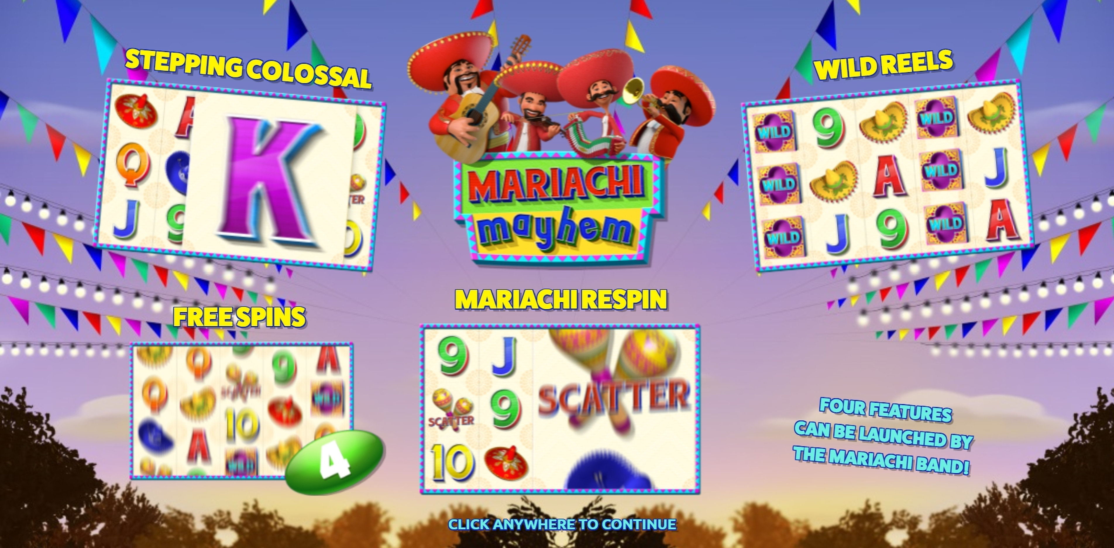 Play Mariachi Mayhem Free Casino Slot Game by The Games Company