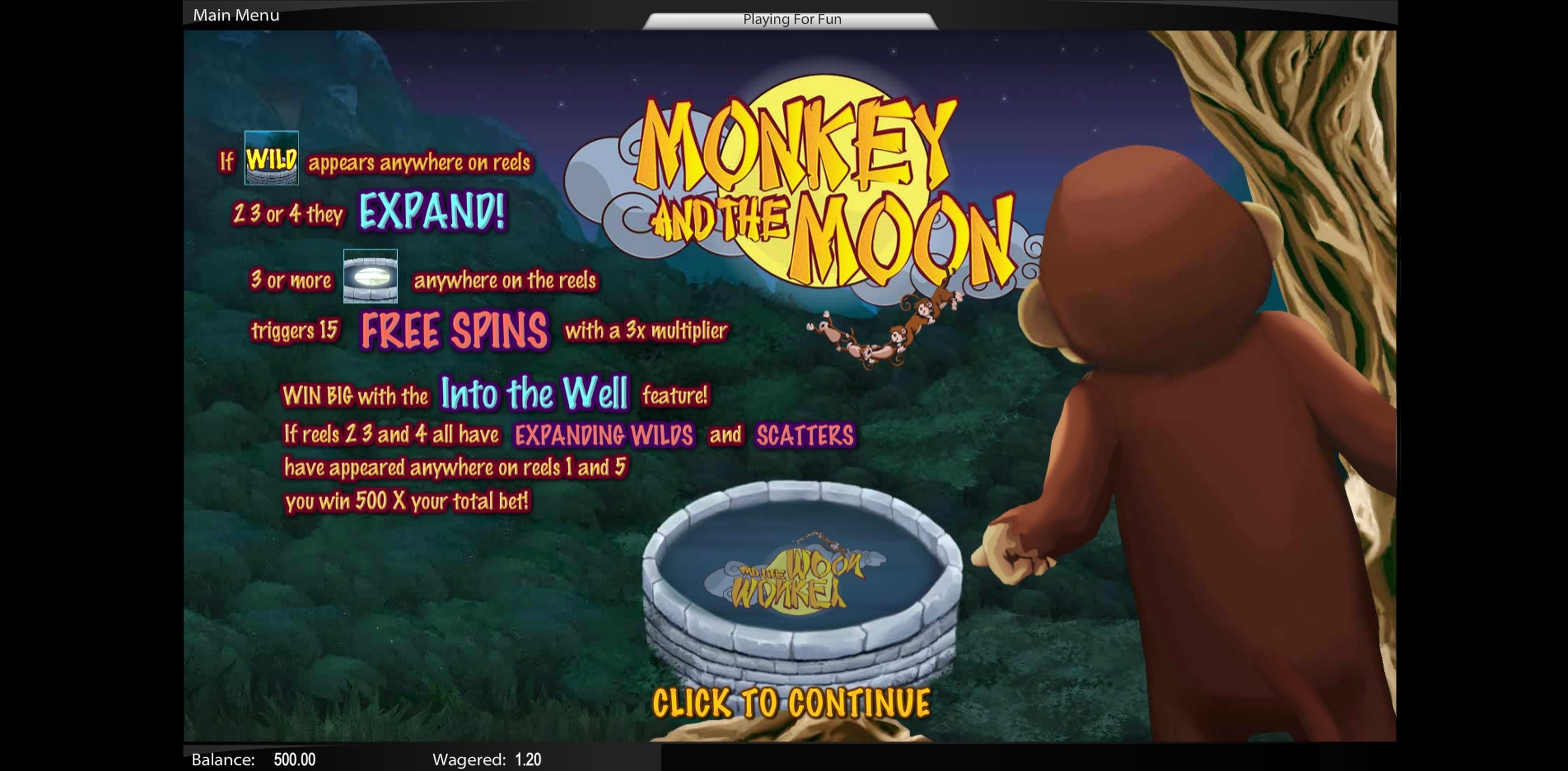 Play Monkey and the Moon Free Casino Slot Game by TOP TREND GAMING