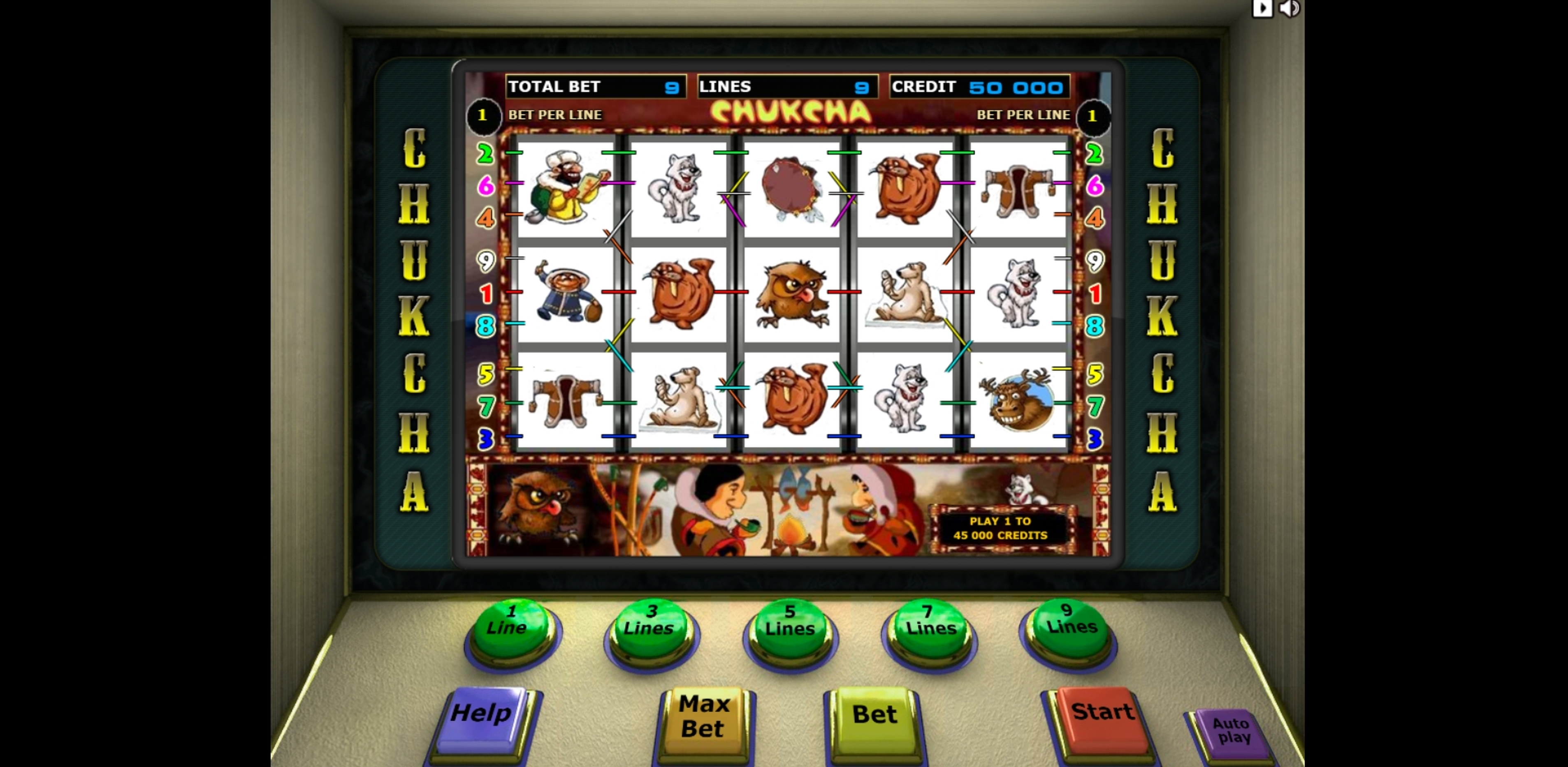 Reels in Chukcha Slot Game by Unicum